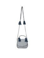 Rebecca Minkoff Chase Ice White And Blue Leather Handbag