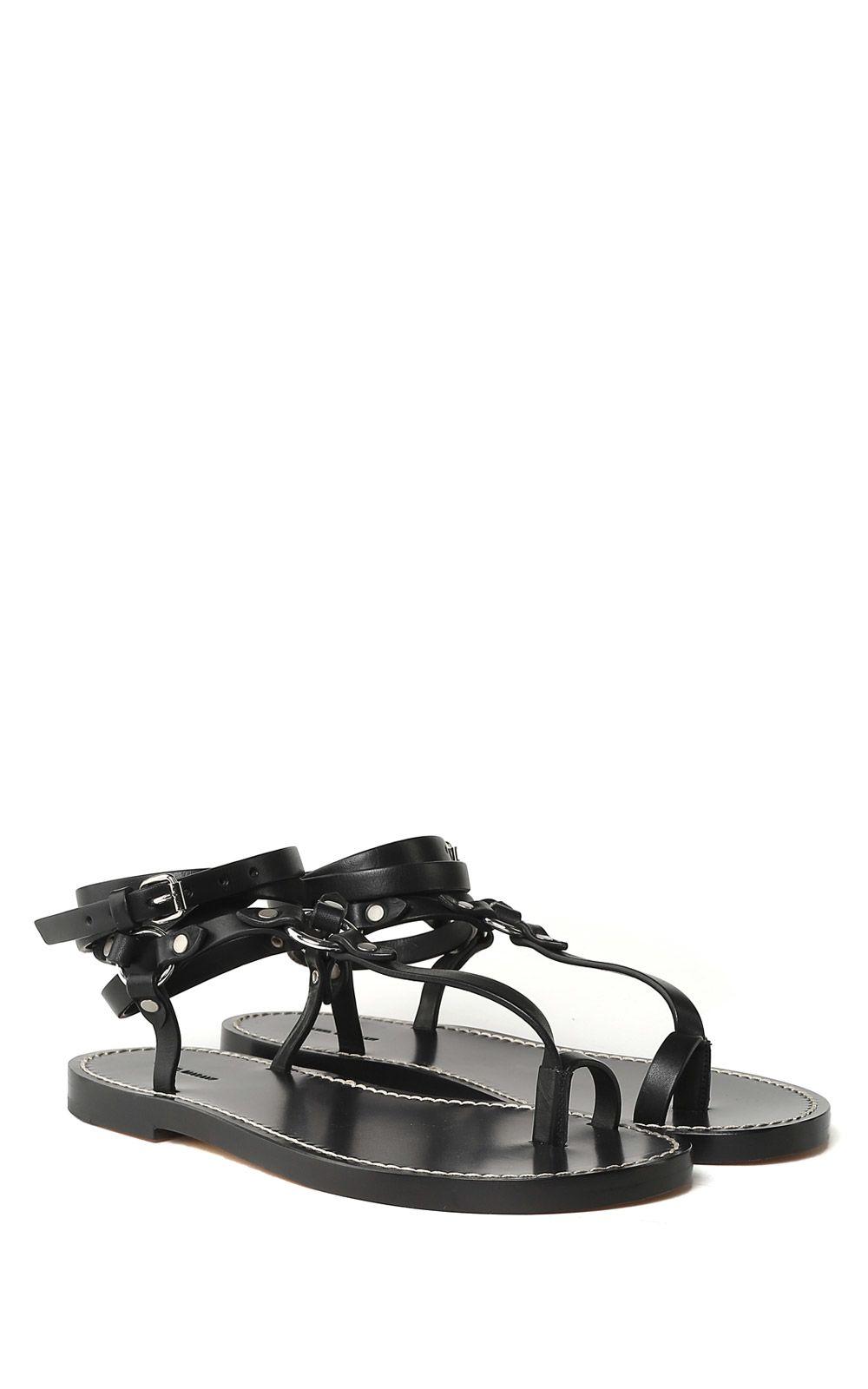 Joxxy toe-post leather sandals Isabel Marant Hyf8Z7keF1