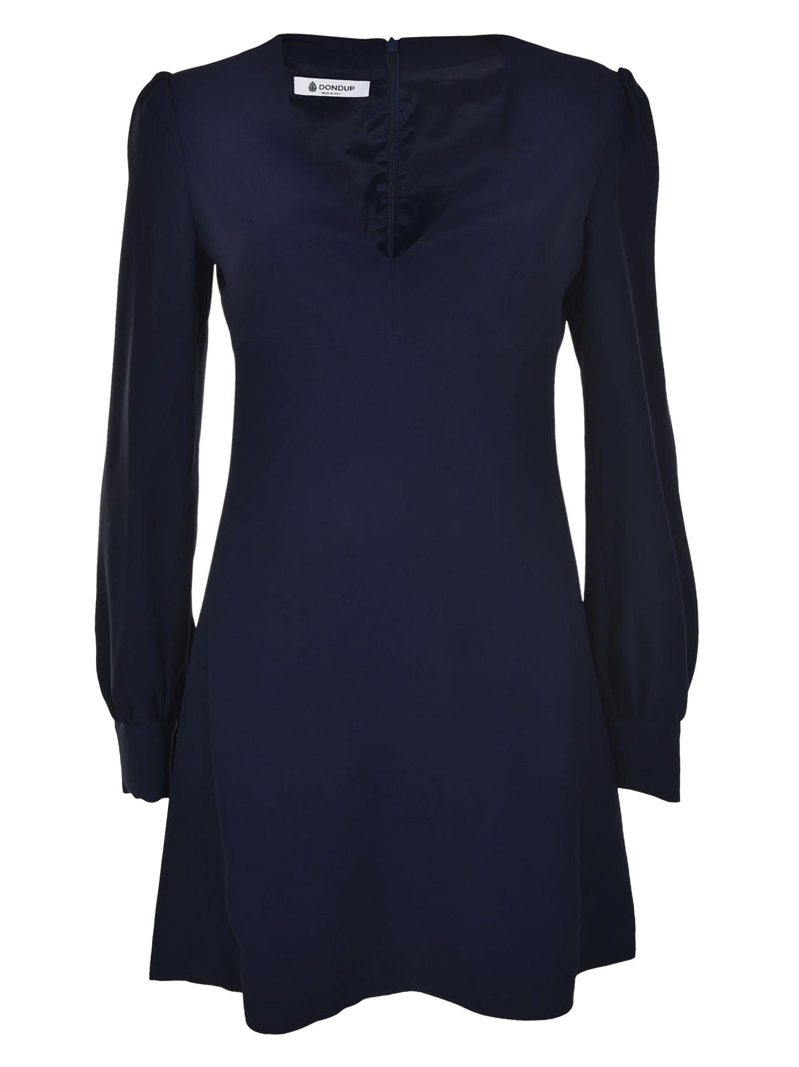 Dondup plunging V-neck dress Low Price For Sale Sale Order Quality Free Shipping Best Seller For Sale Wiki Cheap Online kkdnqTjn