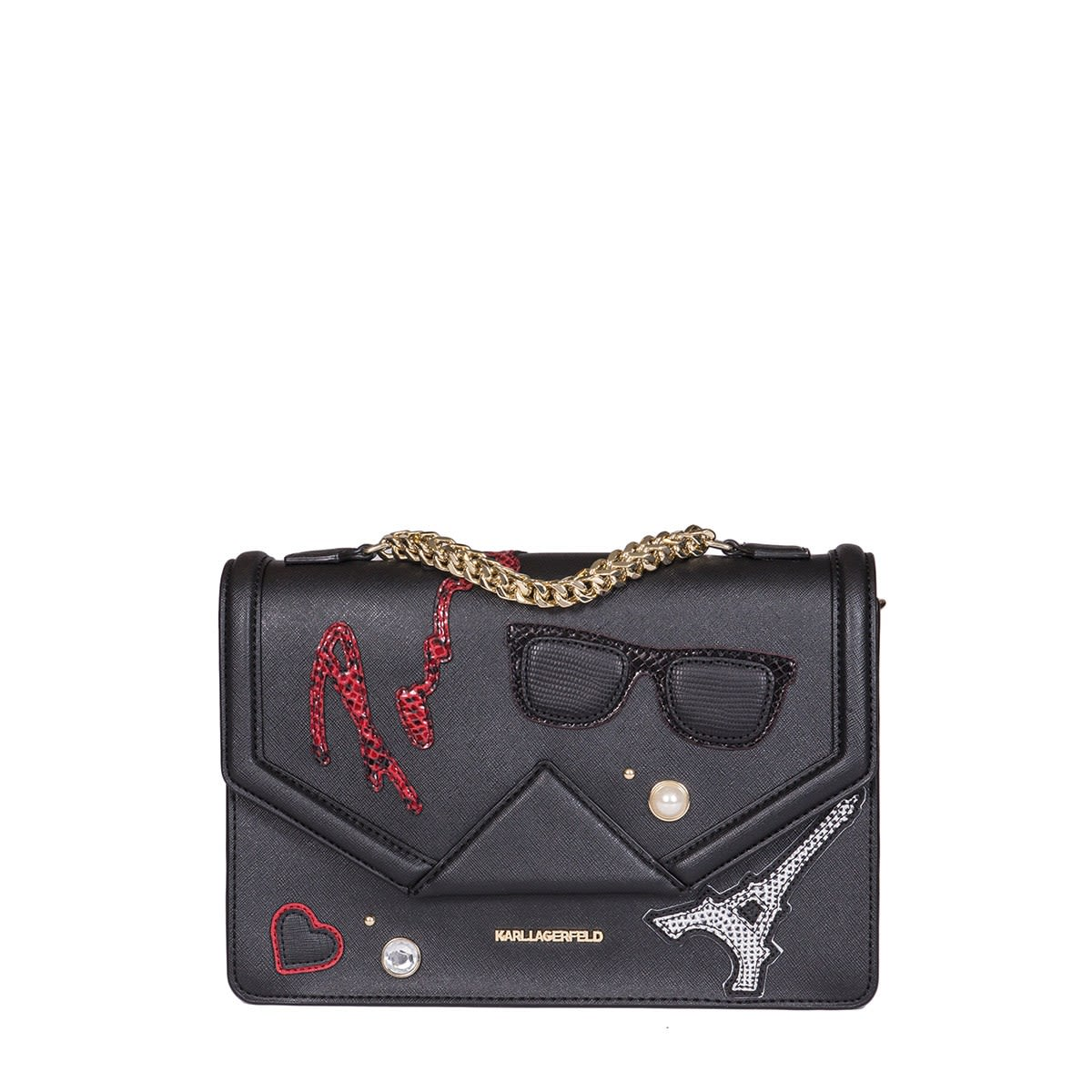 logo patch shoulder bag - Black Karl Lagerfeld Professional For Sale Low Price Fee Shipping Sale Online Orange 100% Original Great Deals Cheap Price Discount With Paypal Z0moysA