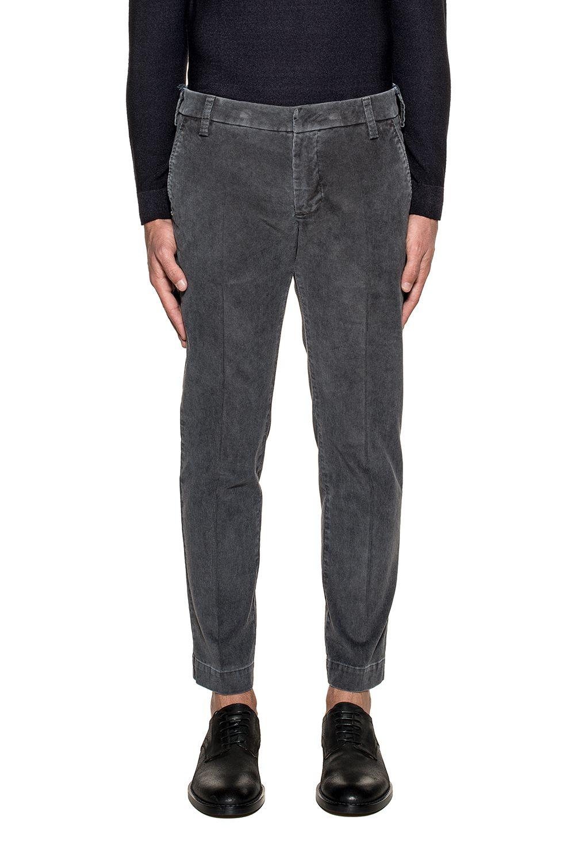 Gray Gaga Velvet Trousers