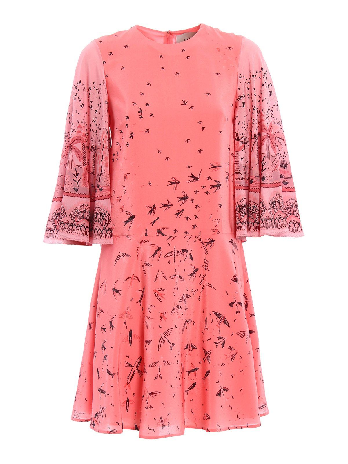 Valentino Swallow Metamorphosis Mini Dress