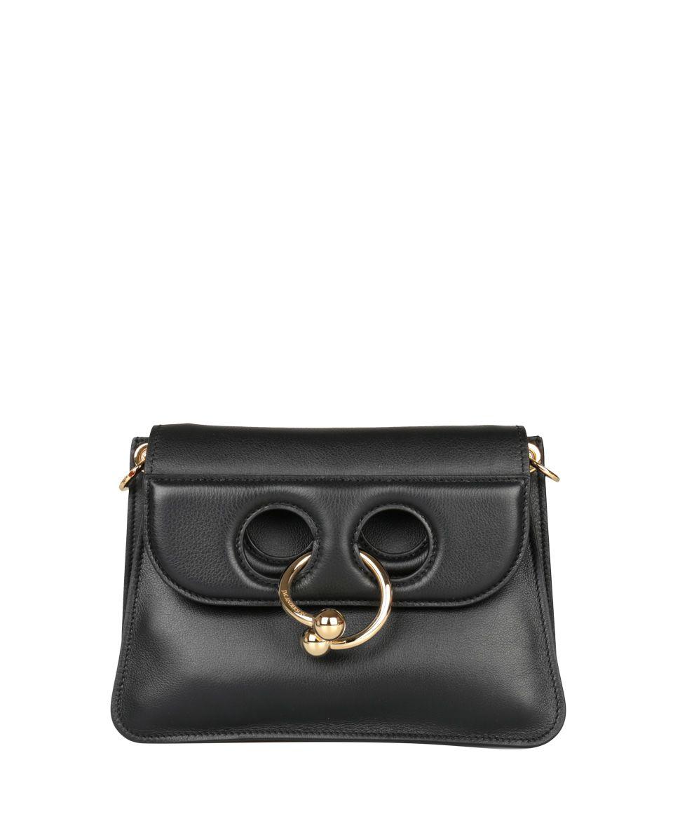 J.W. Anderson Black Leather Mini Pierce Bag