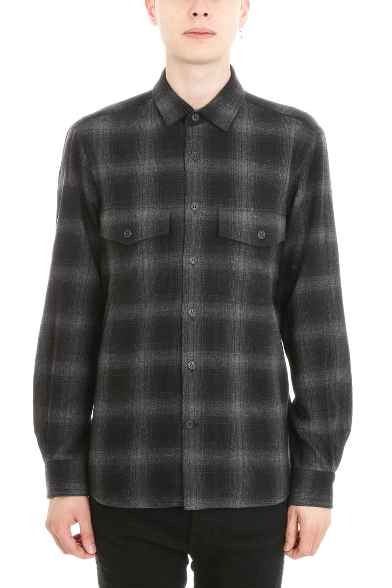 Marcelo Burlon Sham Grey Cotton Shirt