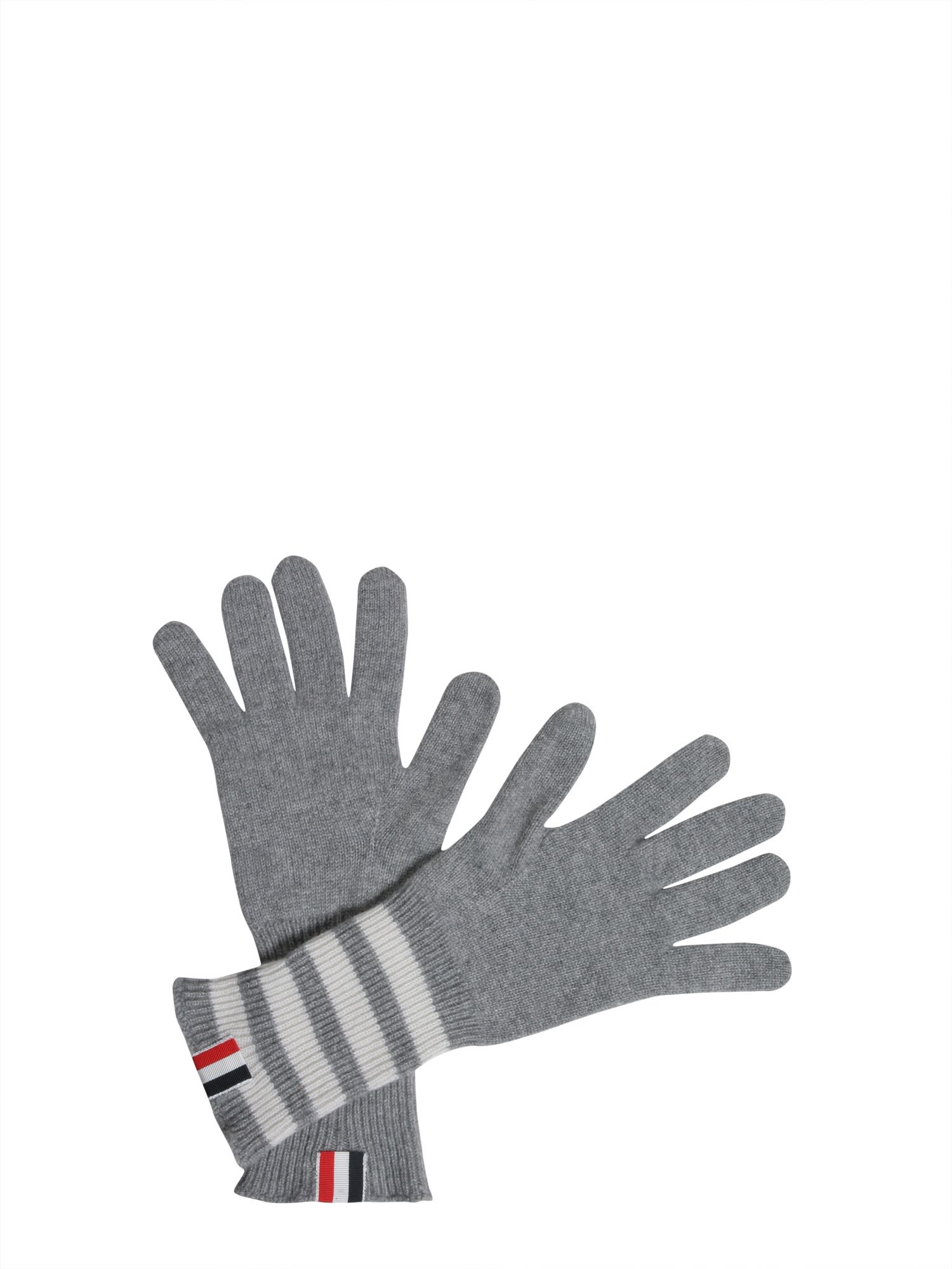Gloves With Stripes Detail