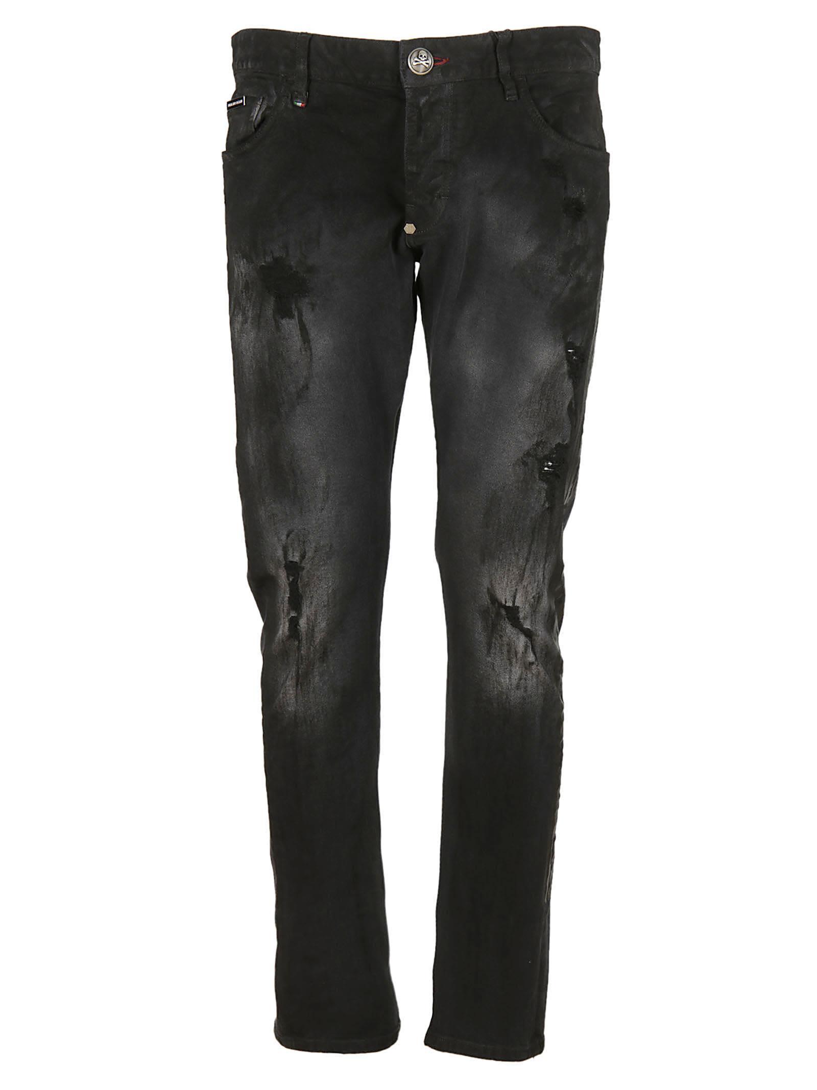 Philipp Plein Stitched Jeans