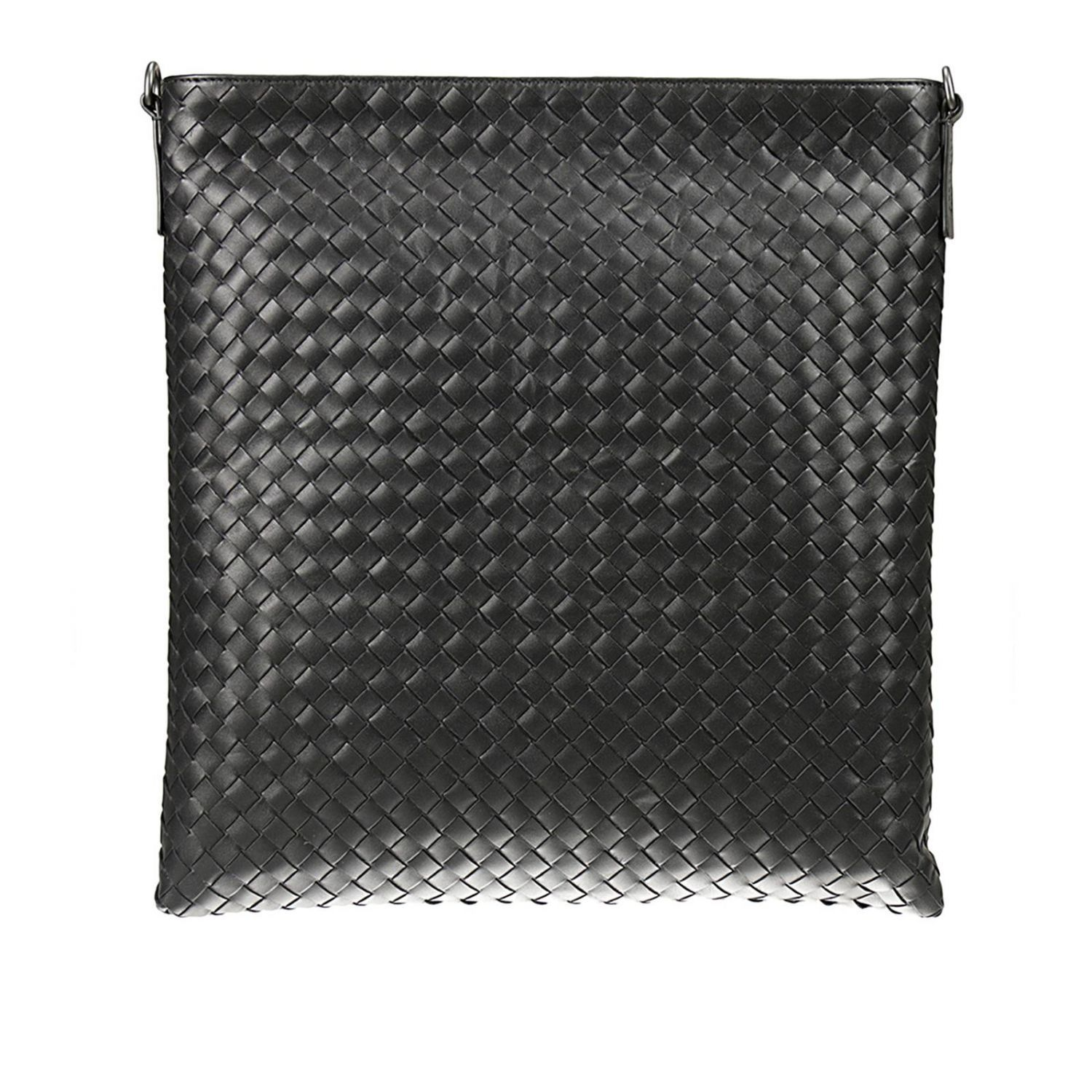 BOTTEGA VENETA Nero Intrecciato Large Messenger Bag  in Black