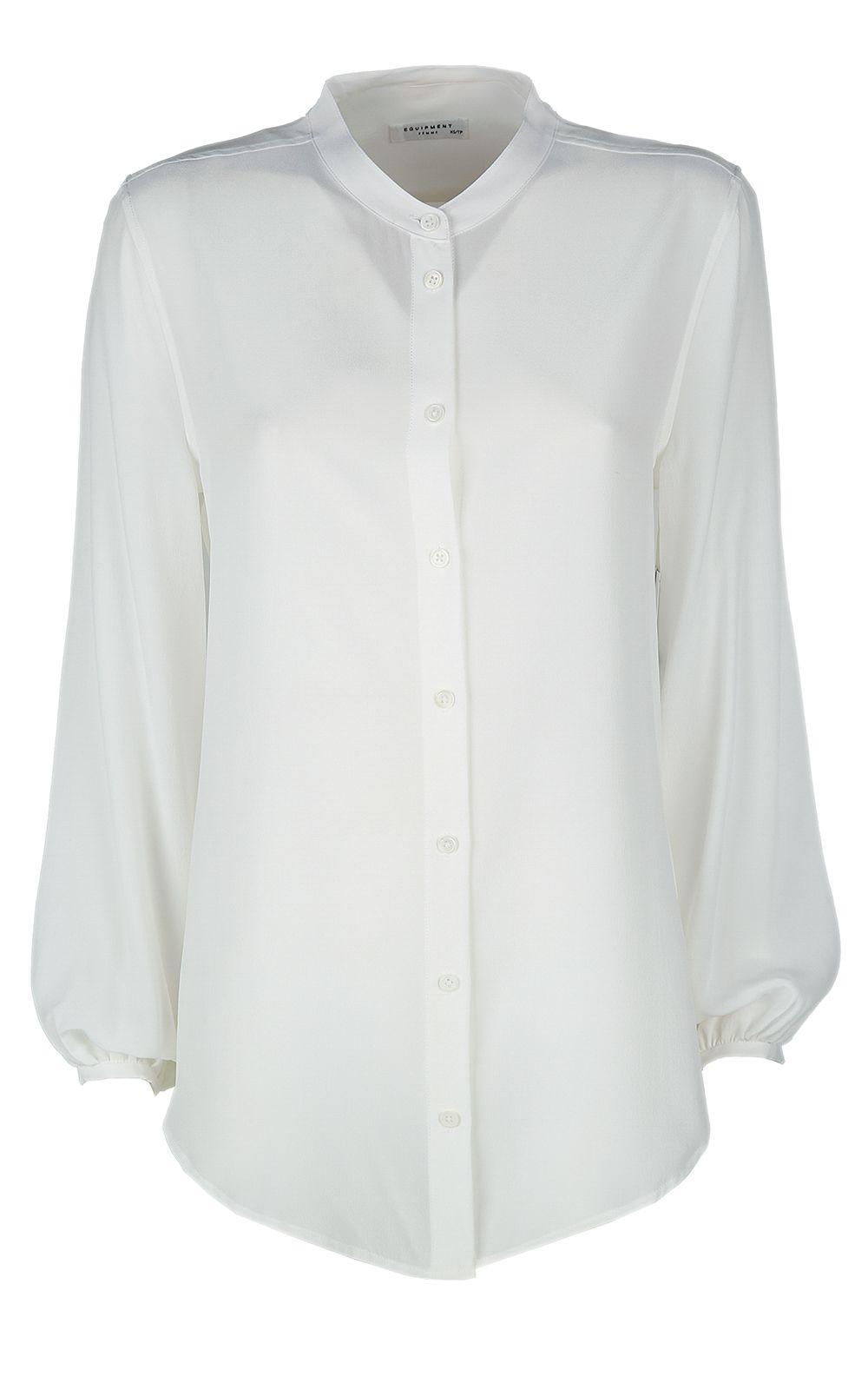 Equipment Giana Washed-silk Shirt