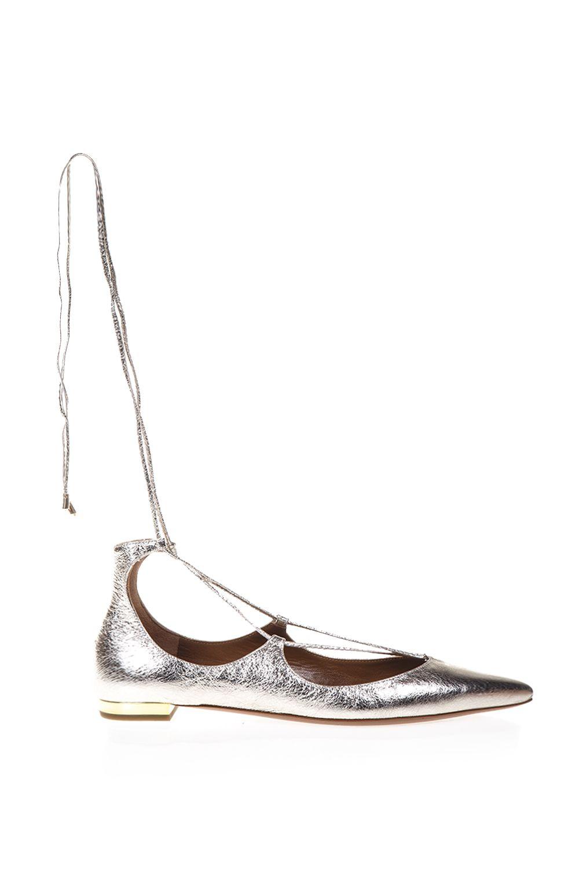 Aquazzura Christy Flat Leather Ballerinas