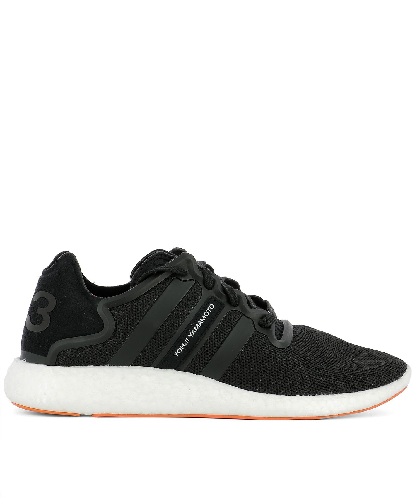Black Fabric Yohji Run Sneakers