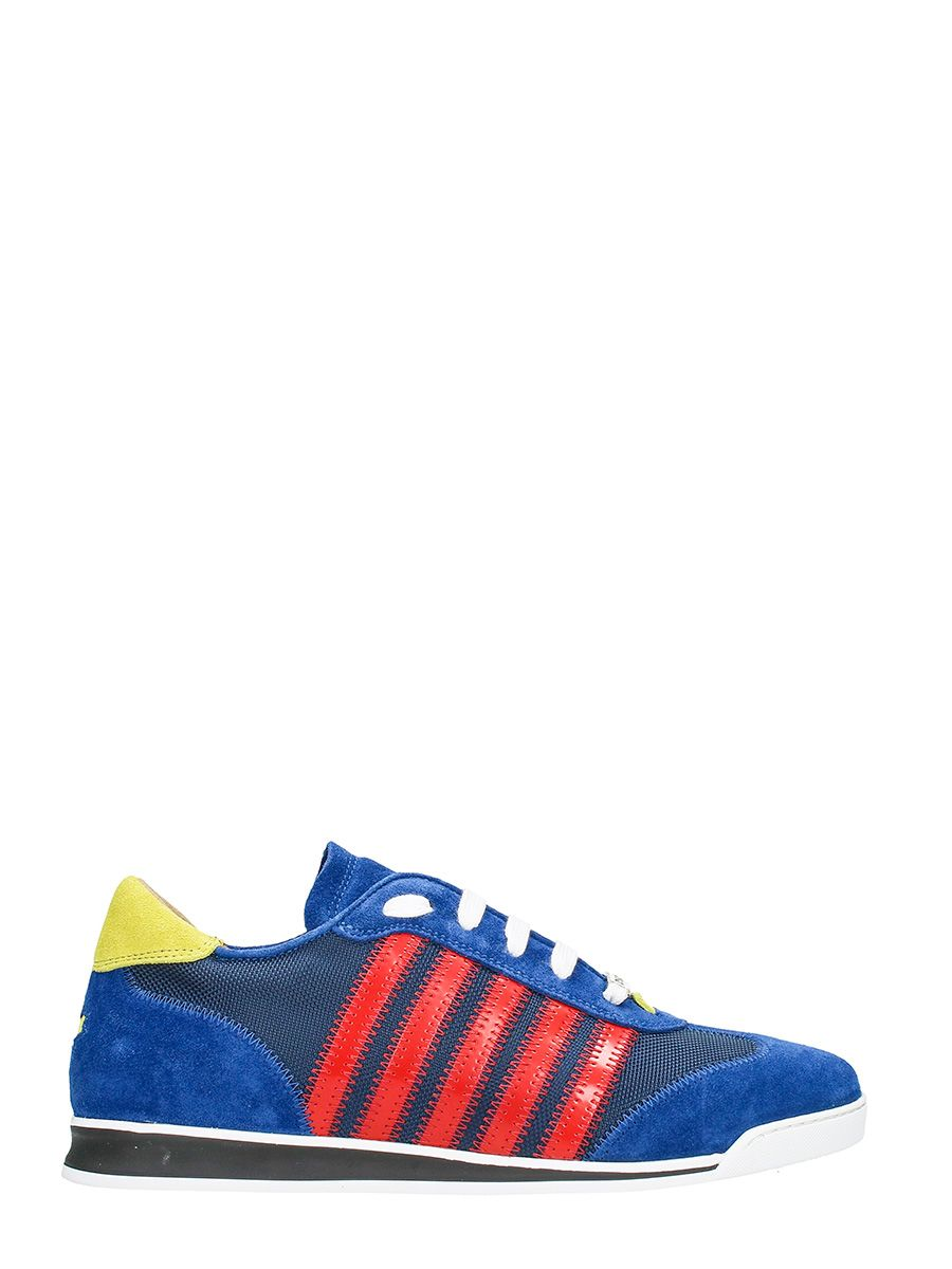 Dsquared2 New Runner Fabric And Suede Sneakers