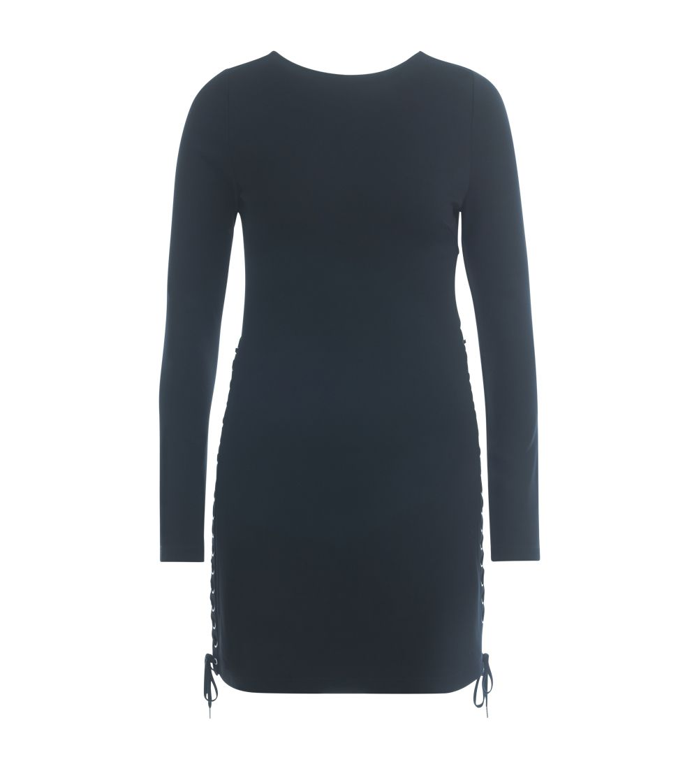 Mcq Alexander Mcqueen Black Dress With Side Straps