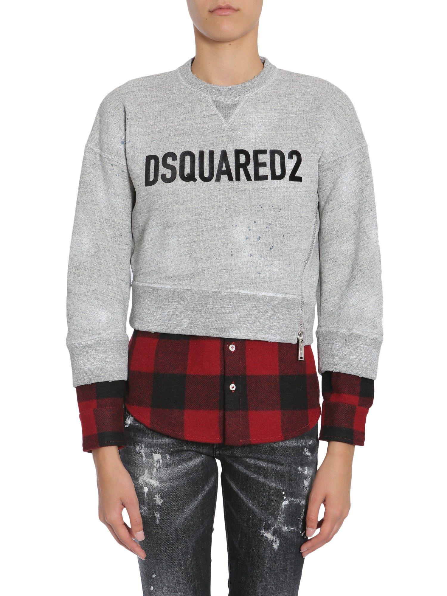 Sweatshirt With Shirt Detail