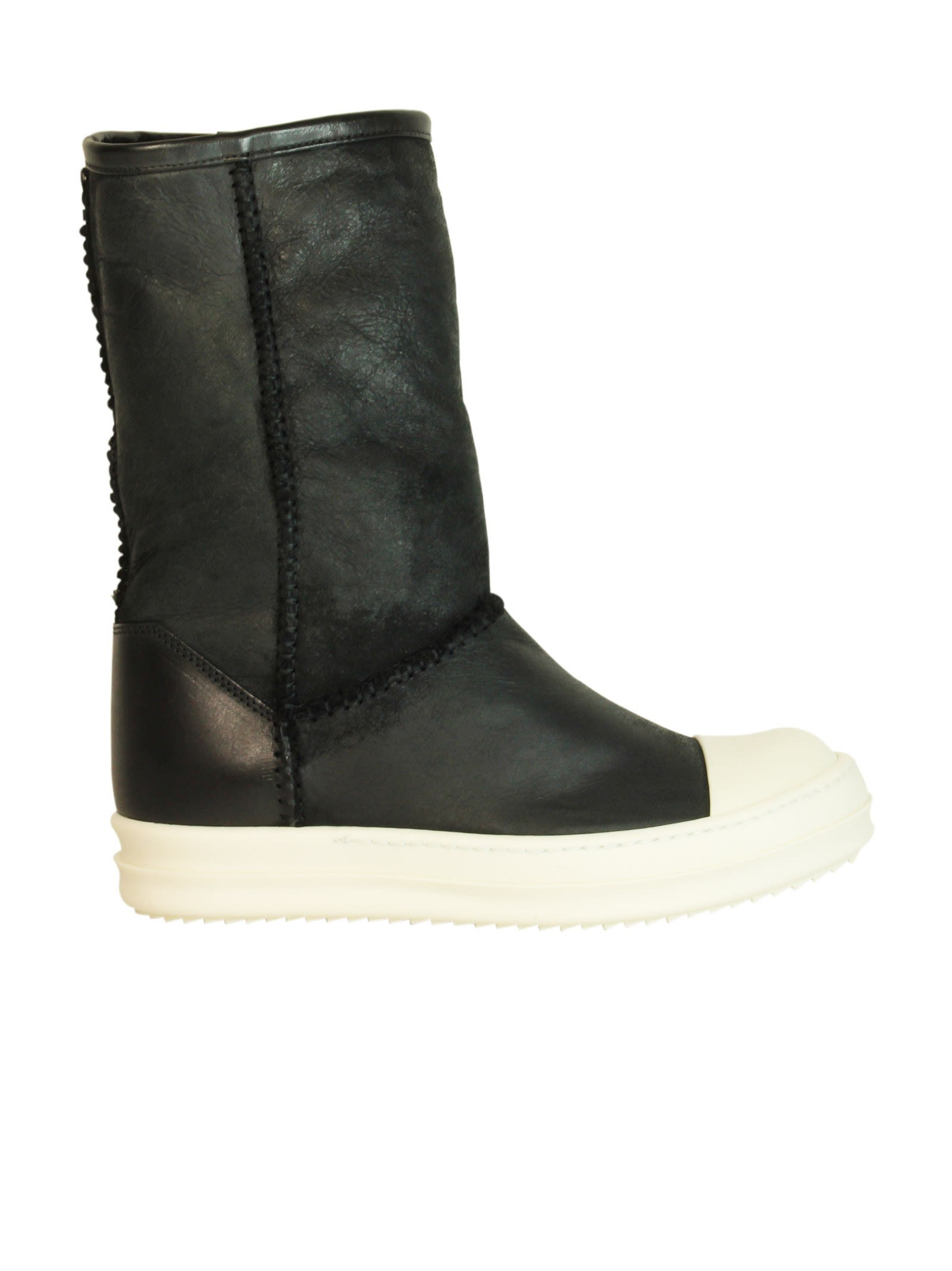 Black Shearling Ankle Boots