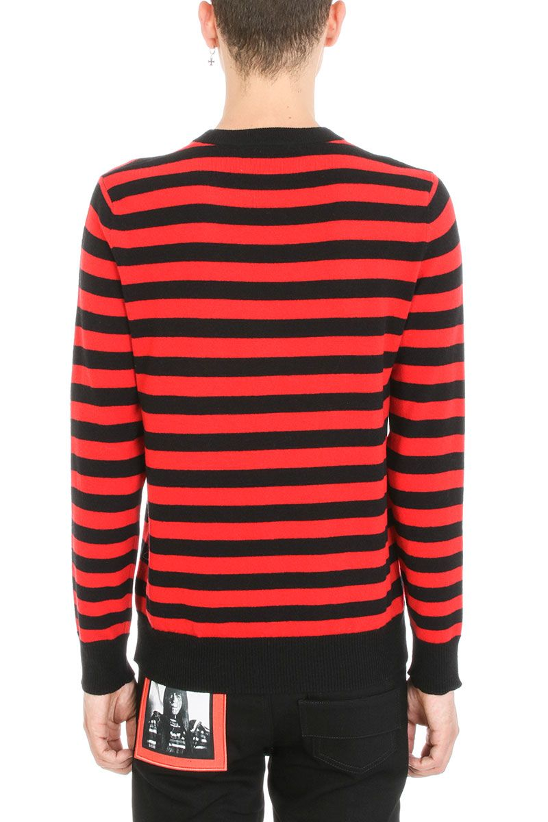 Givenchy - Givenchy Red Knit Sweater - red, Men's Sweaters | Italist