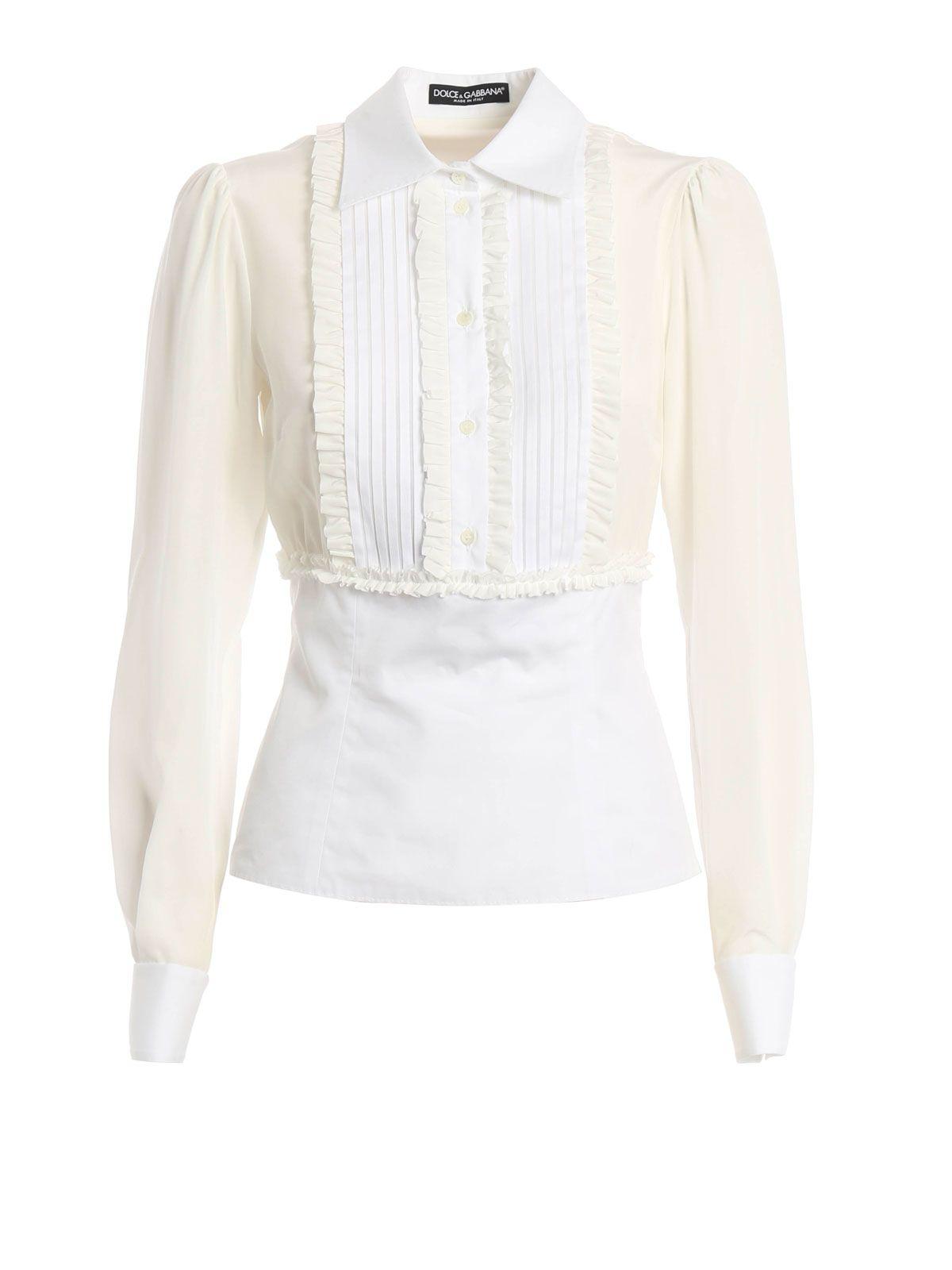 Dolce & Gabbana Dolce & Gabbana Ruffled Bib Shirt