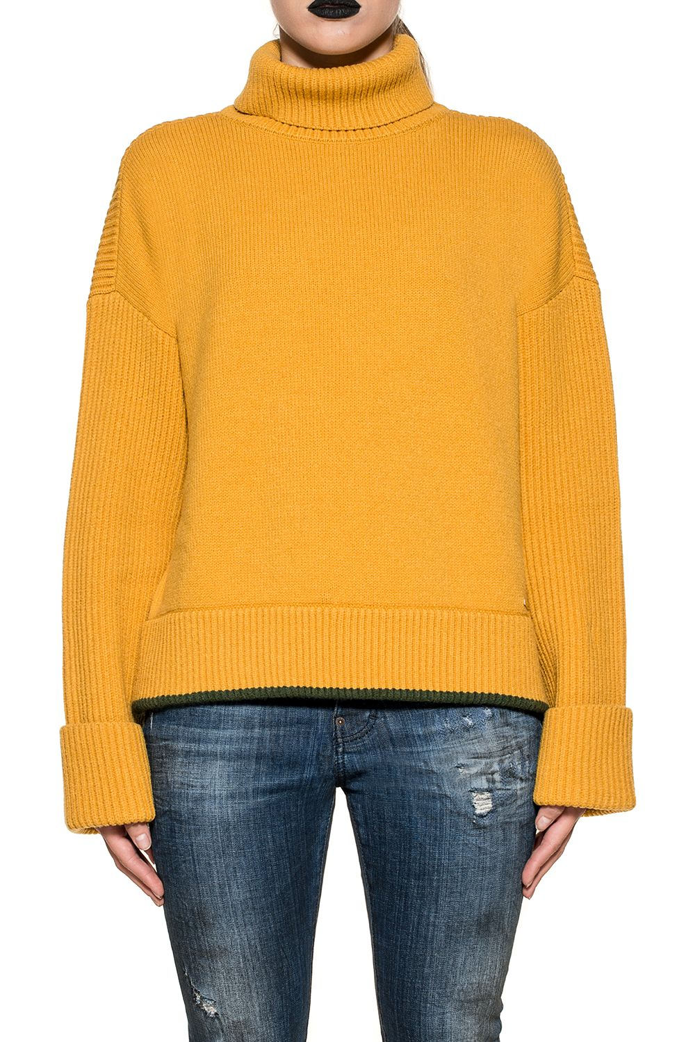Ocra Yellow Wool Pullover