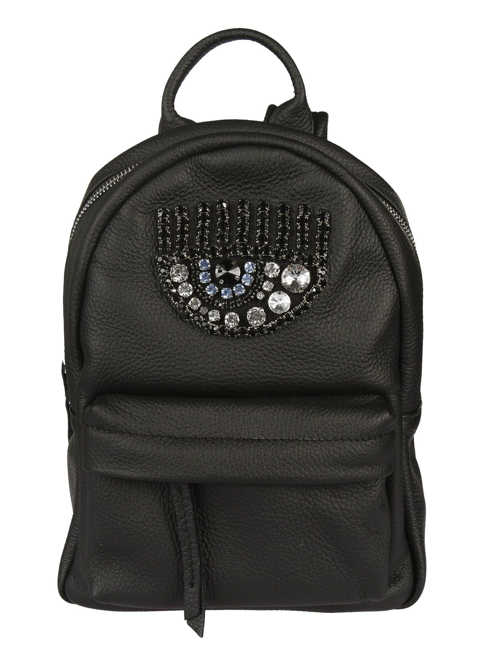 Chiara Ferragni Flirting Eye Crystal-embellished Mini Backpack