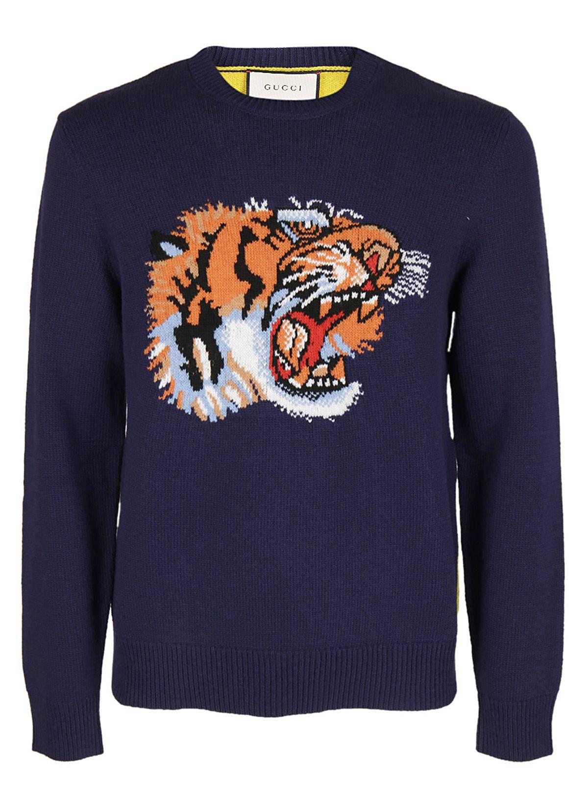 Gucci Gucci Tiger Intarsia Sweater