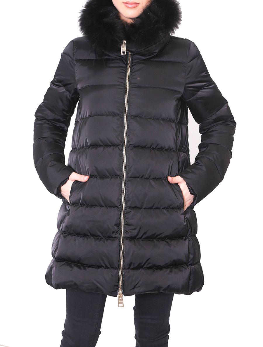 Long down jacket women