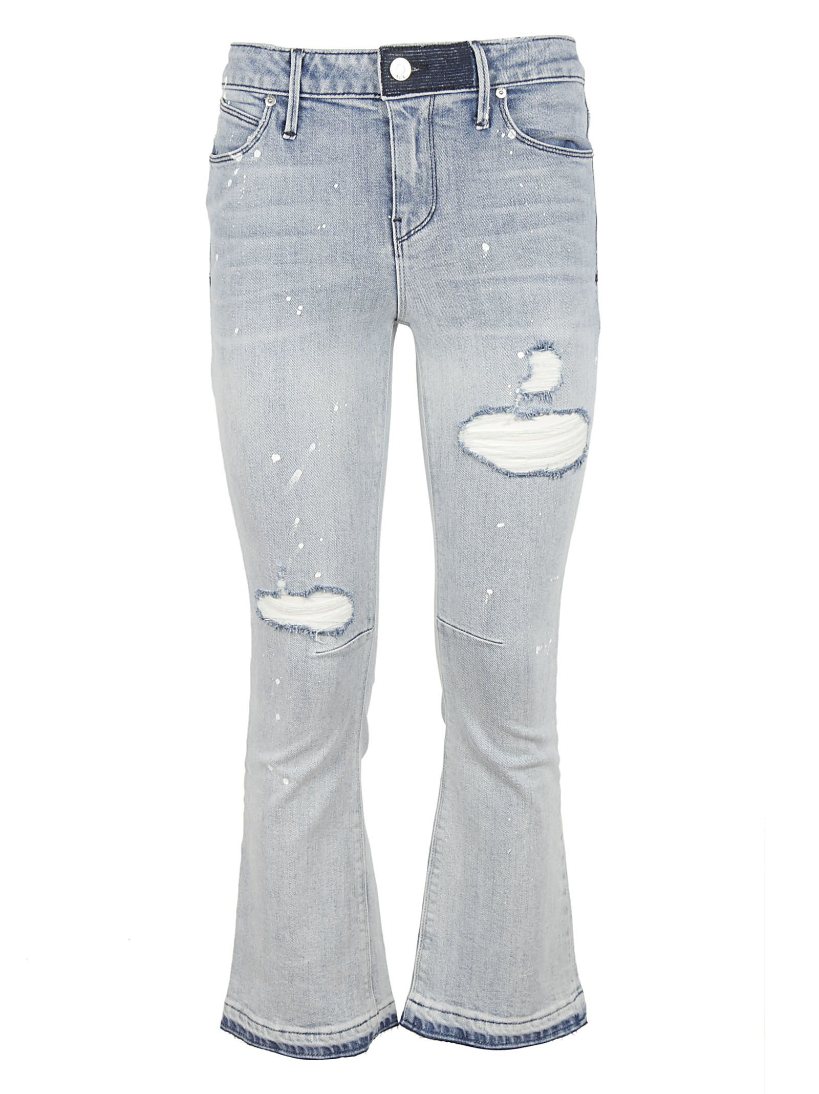 RTA Distressed Flared Jeans