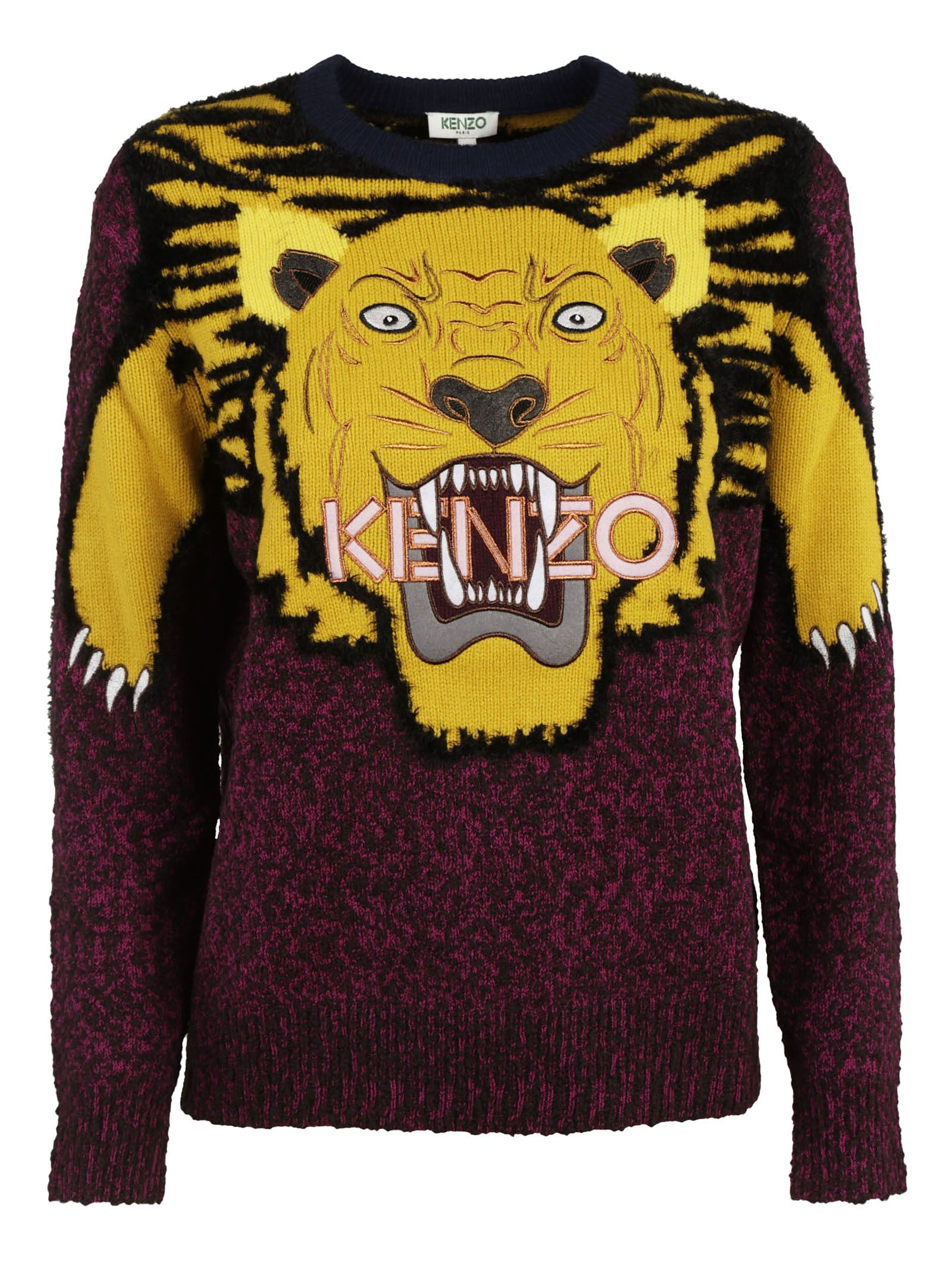 kenzo kenzo embroidered tiger sweater fuxia women 39 s sweaters italist. Black Bedroom Furniture Sets. Home Design Ideas
