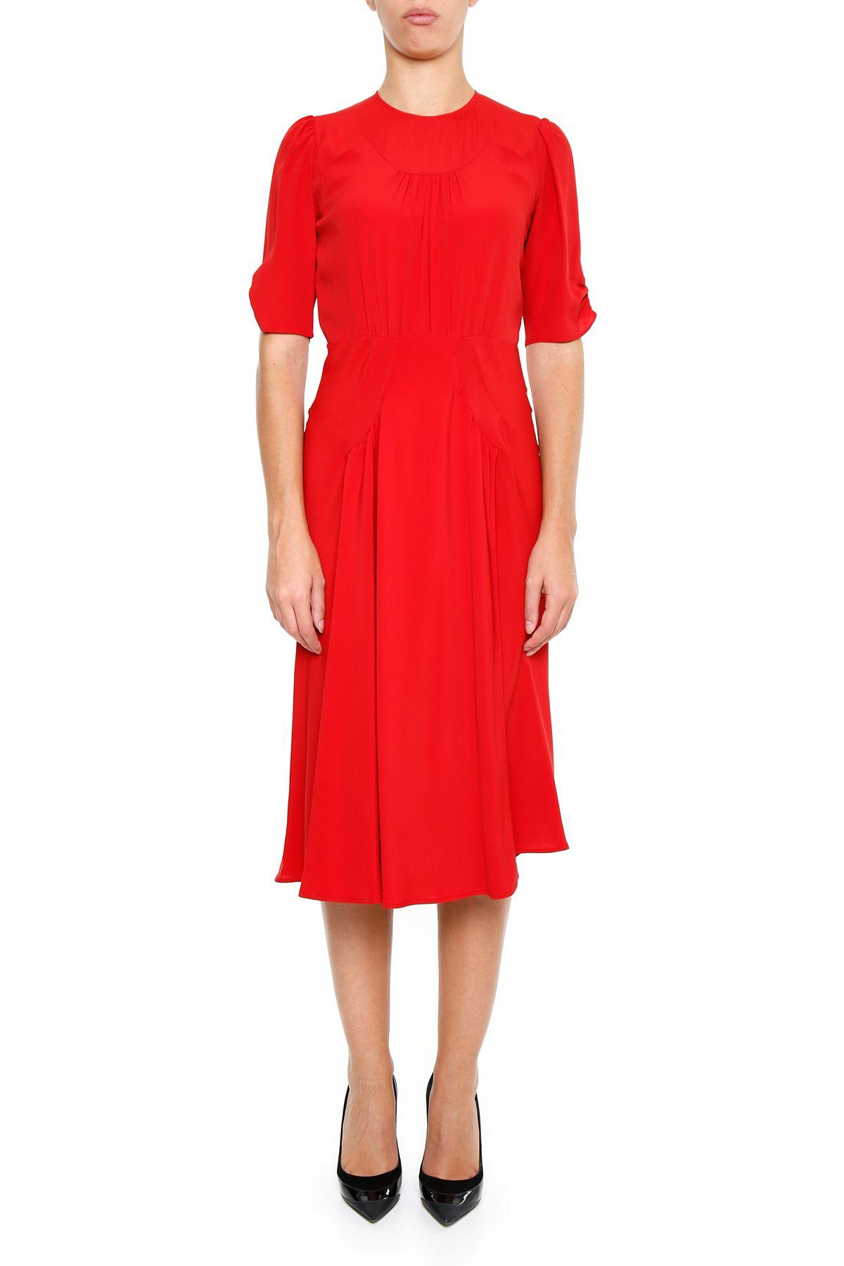 crepe de chine dress rosso rosso women 39 s dresses italist. Black Bedroom Furniture Sets. Home Design Ideas