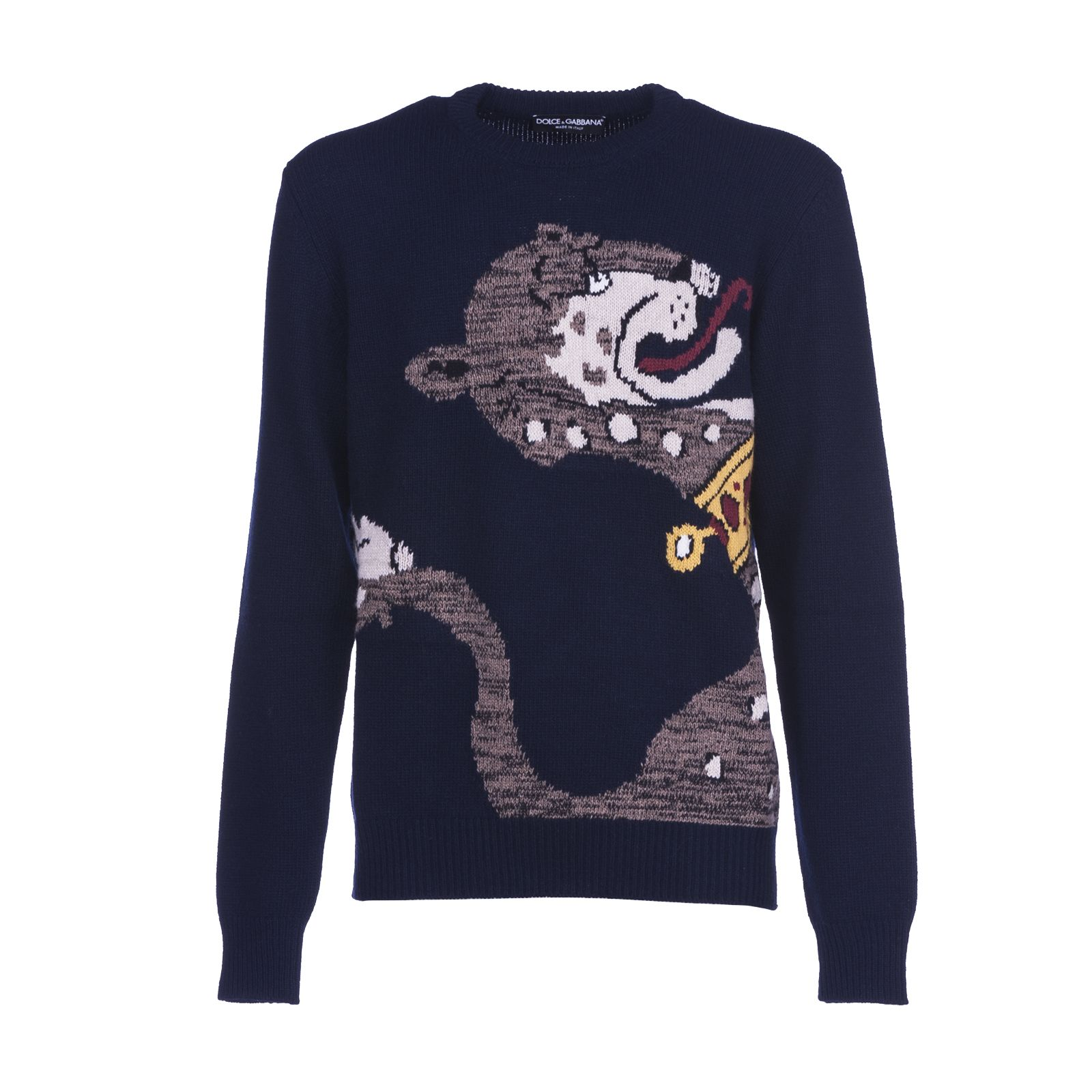 Dolce & Gabbana Intarsia Panther Knit Jumper