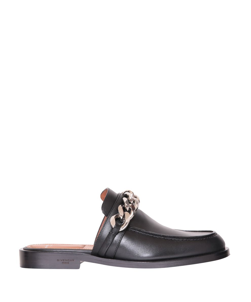 Givenchy Black Leather Mules
