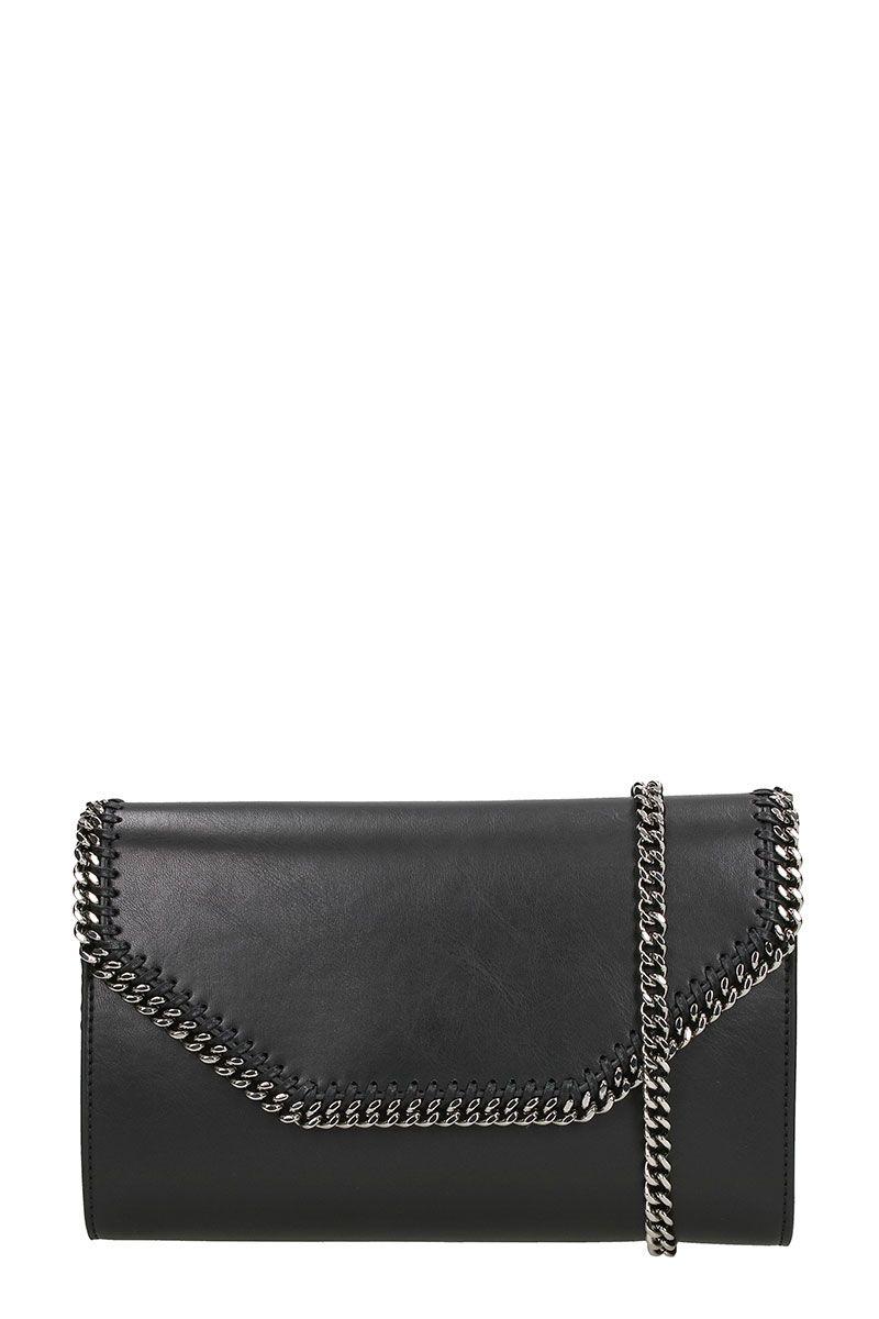 Stella McCartney Box Black Faux-leather Cross-body Clutch