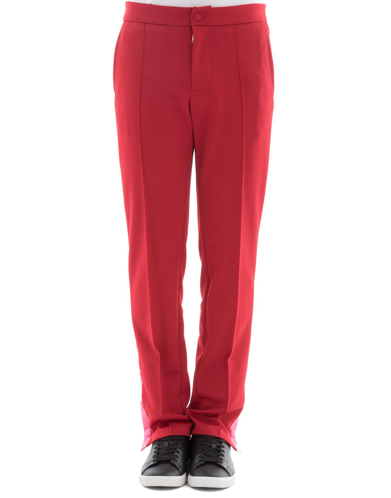 Red Polyester Pants