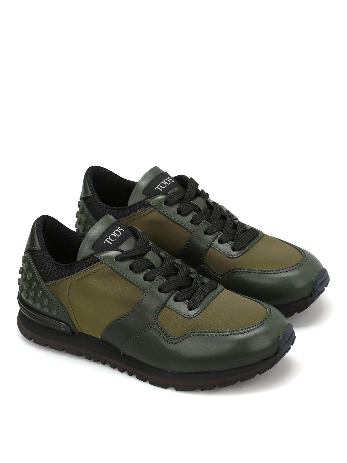 Tods Leather And Technical Fabric Shoes