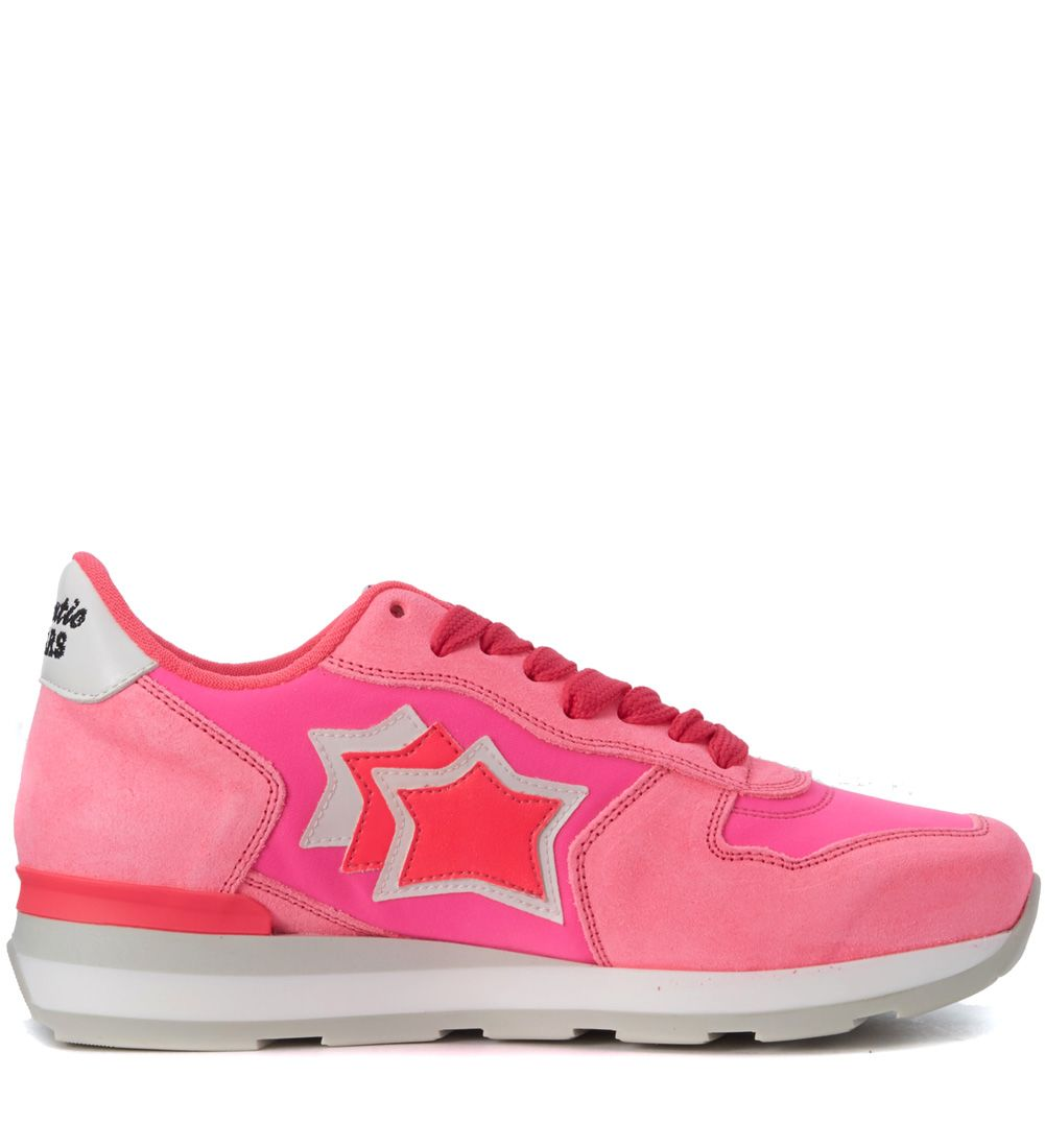 Atlantic Stars Vega Fuchsia Fabric And Leather Sneaker