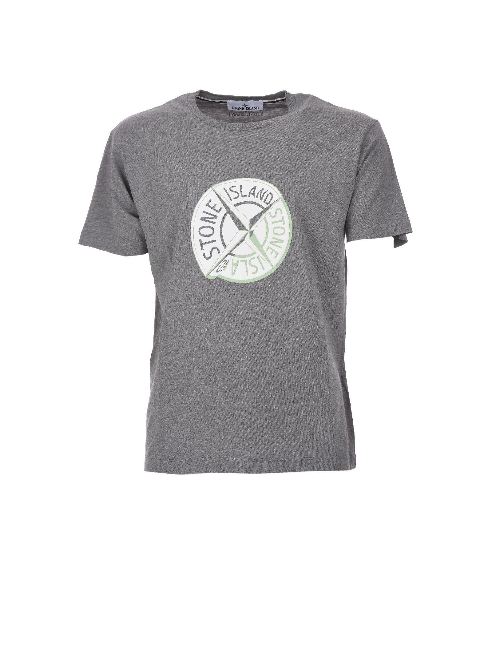Stone Island Gray T-shirt Graphic Ten