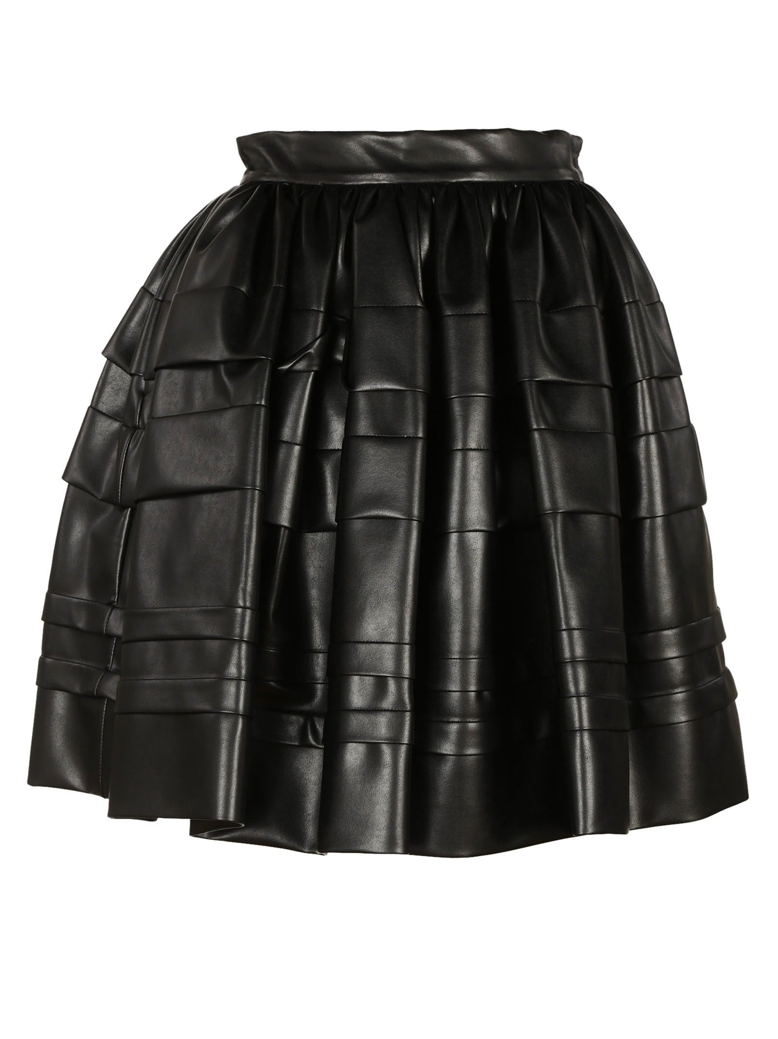 Ermanno Scervino Embossed Stripes Full Skirt