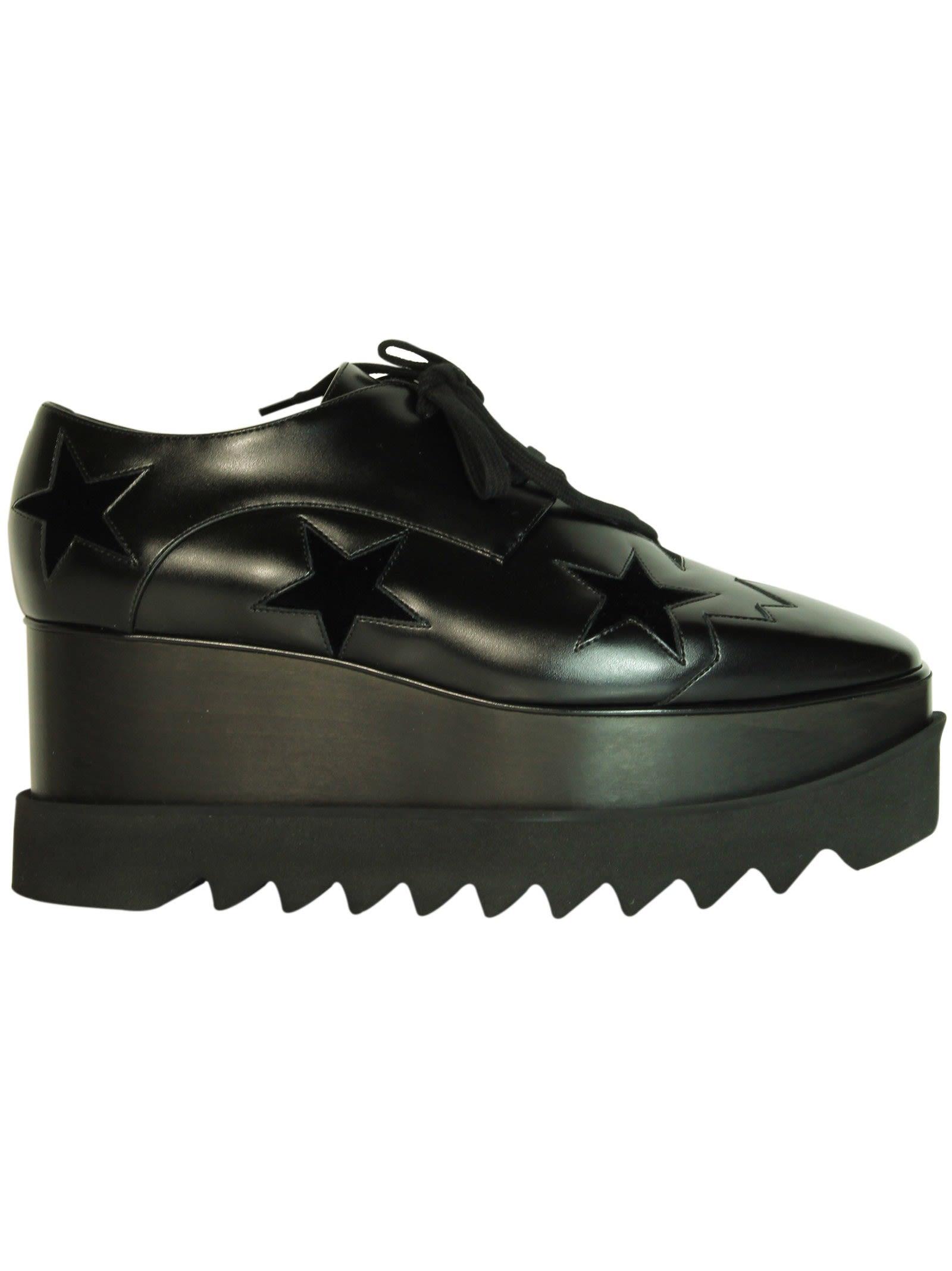 Black Velvet Star Elyse Platform Shoes