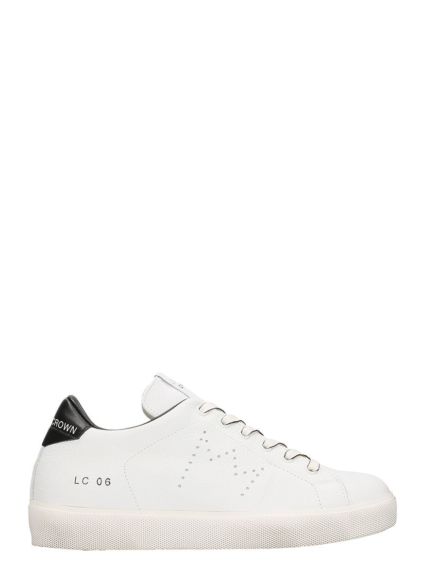 Leather Crown Low Lc06 White Leather Sneakers