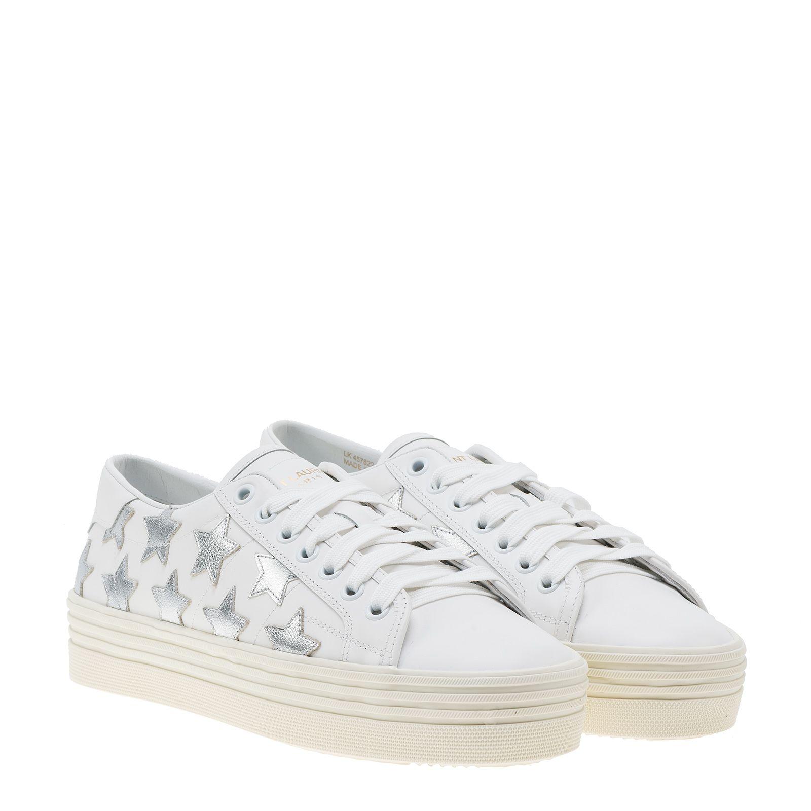 Saint Laurent Signature Court Classic Platform Sneakers
