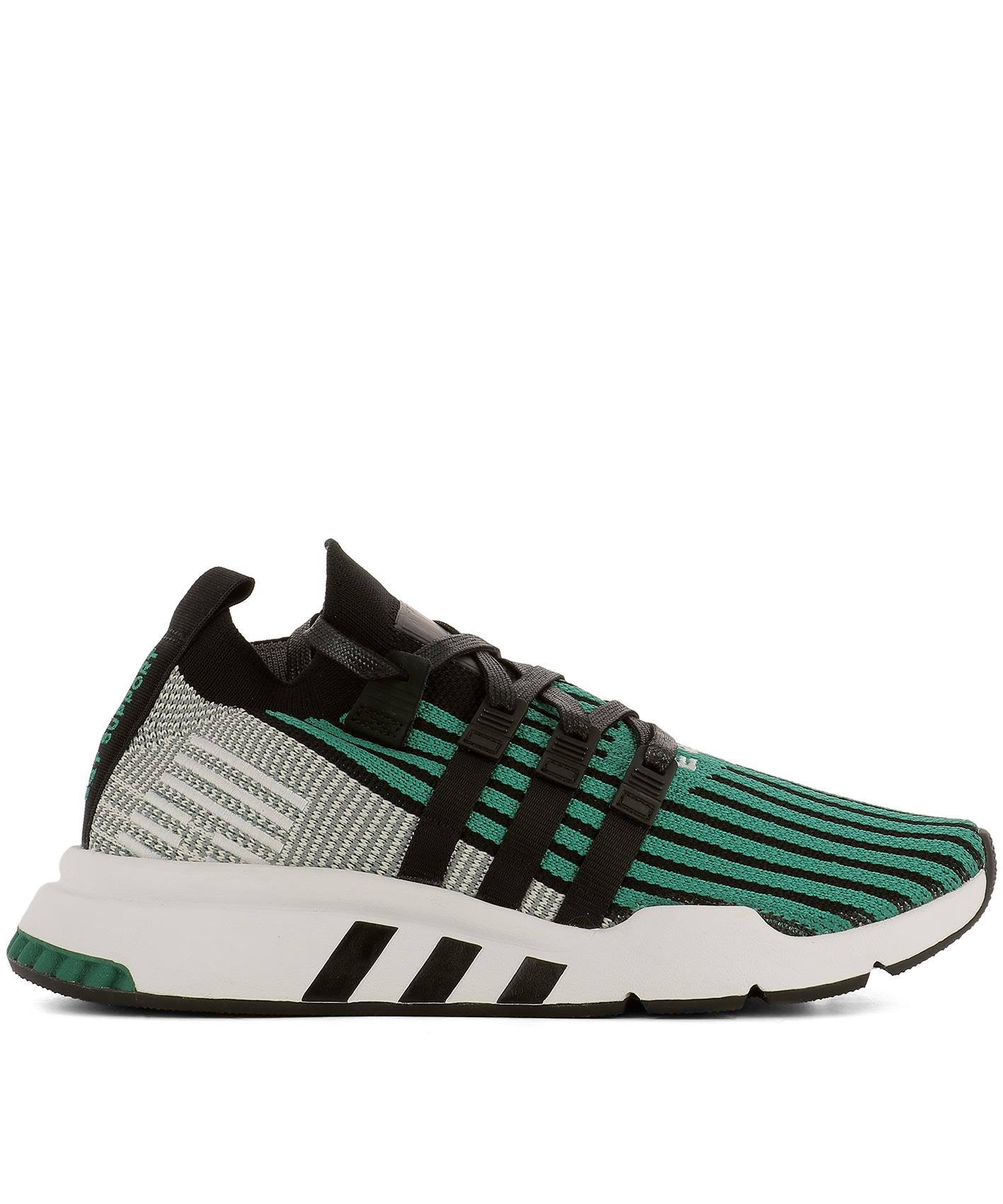 Green Fabric Eqt Support Mid Adv Pk Sneakers