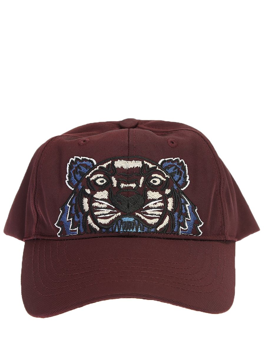 bc4ac284007 Kenzo Embroidered Cotton Baseball Cap In Bordeaux