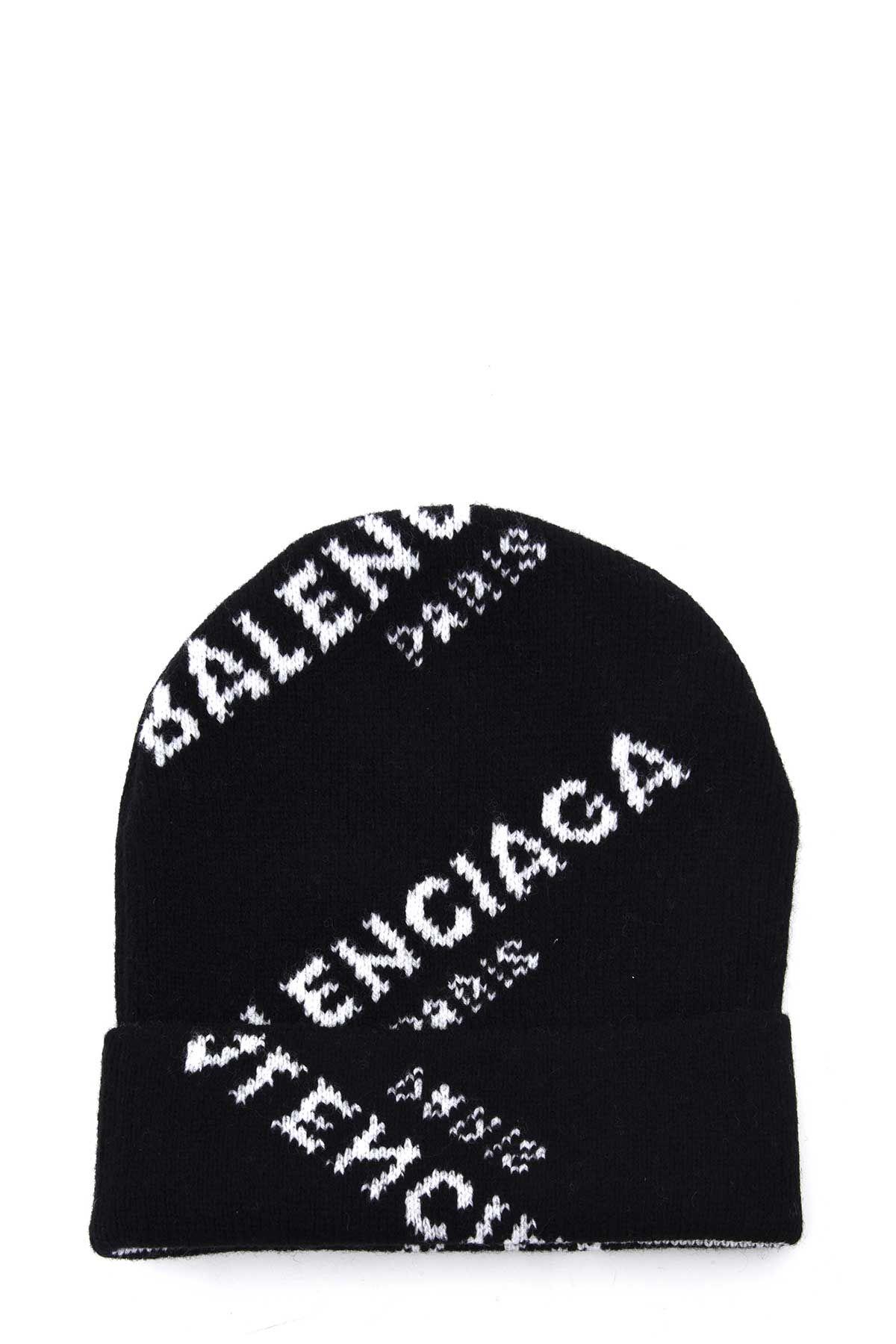 Balenciaga Wool Cap With Logo