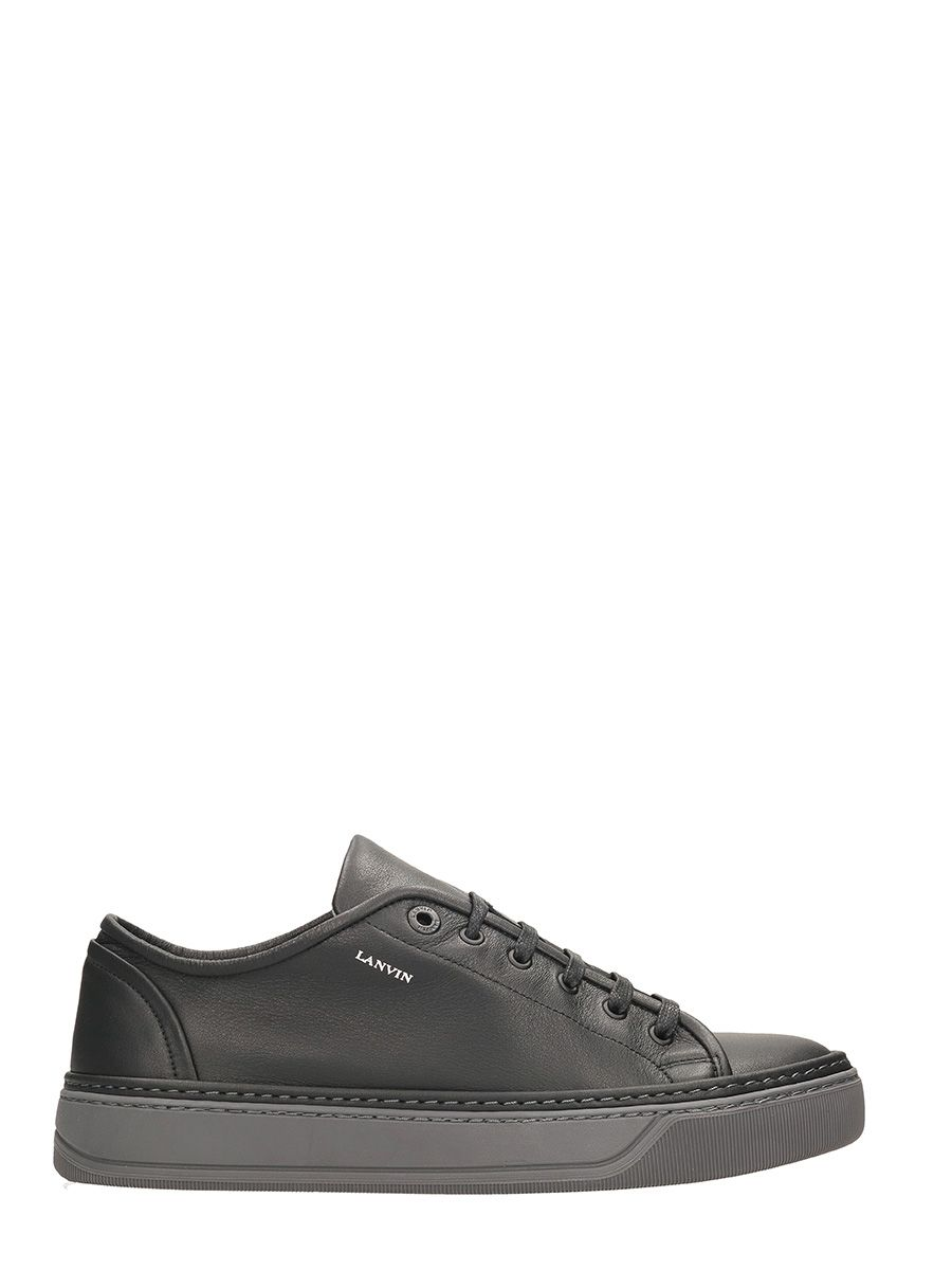 Lanvin Low Top Sneakers Black Leather