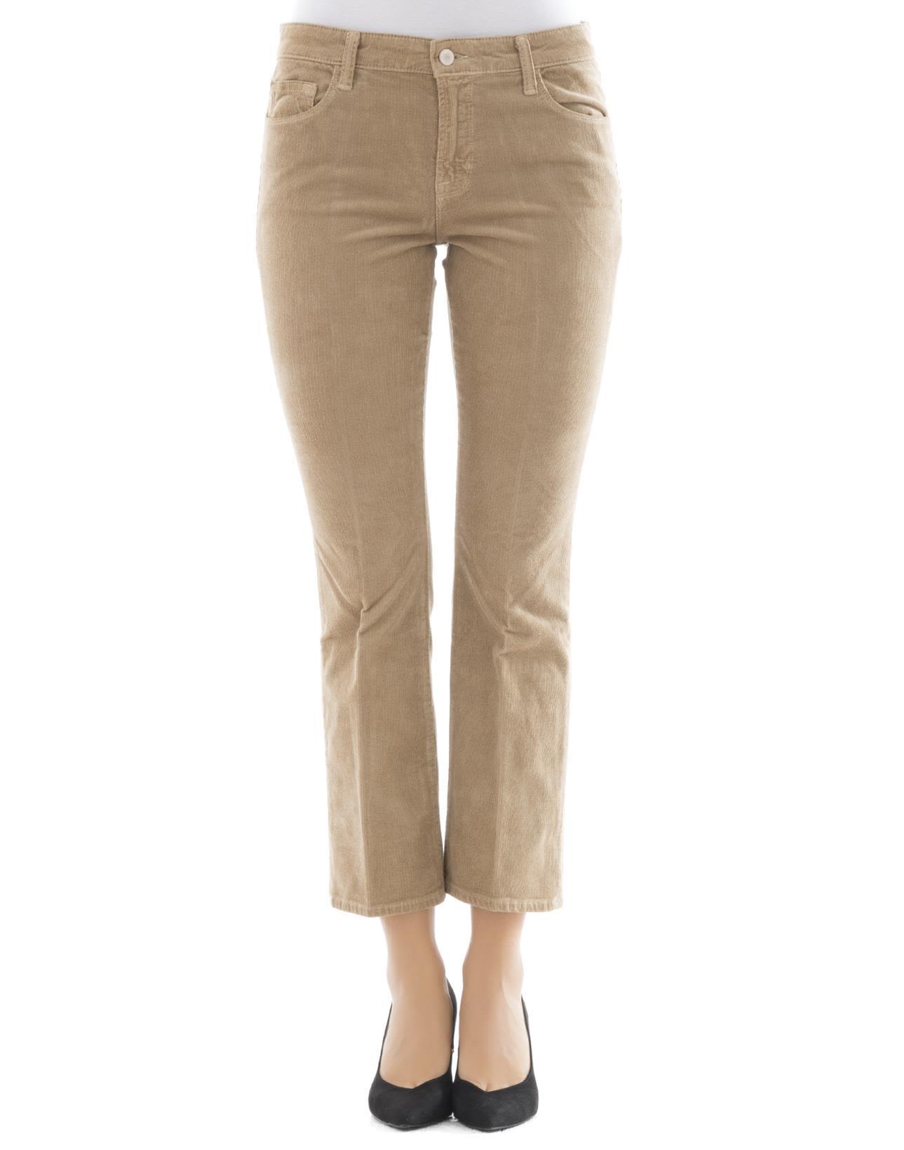Beige Velvet Pants