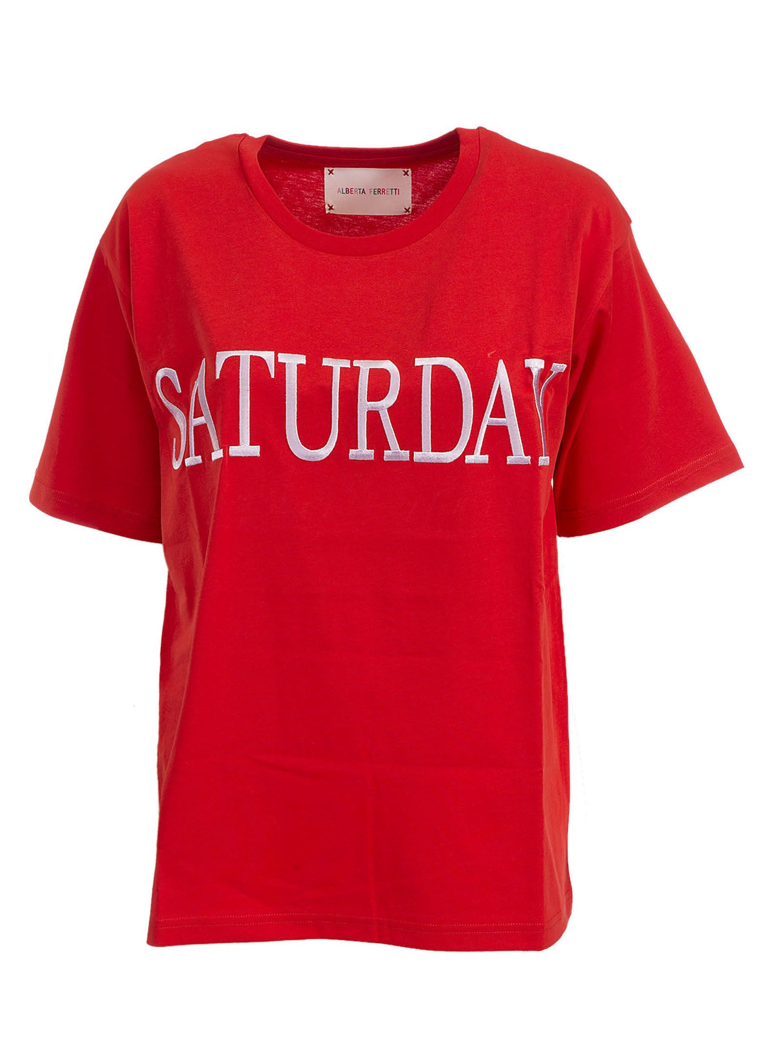 Alberta Ferretti Saturday Embroidered T-shirt