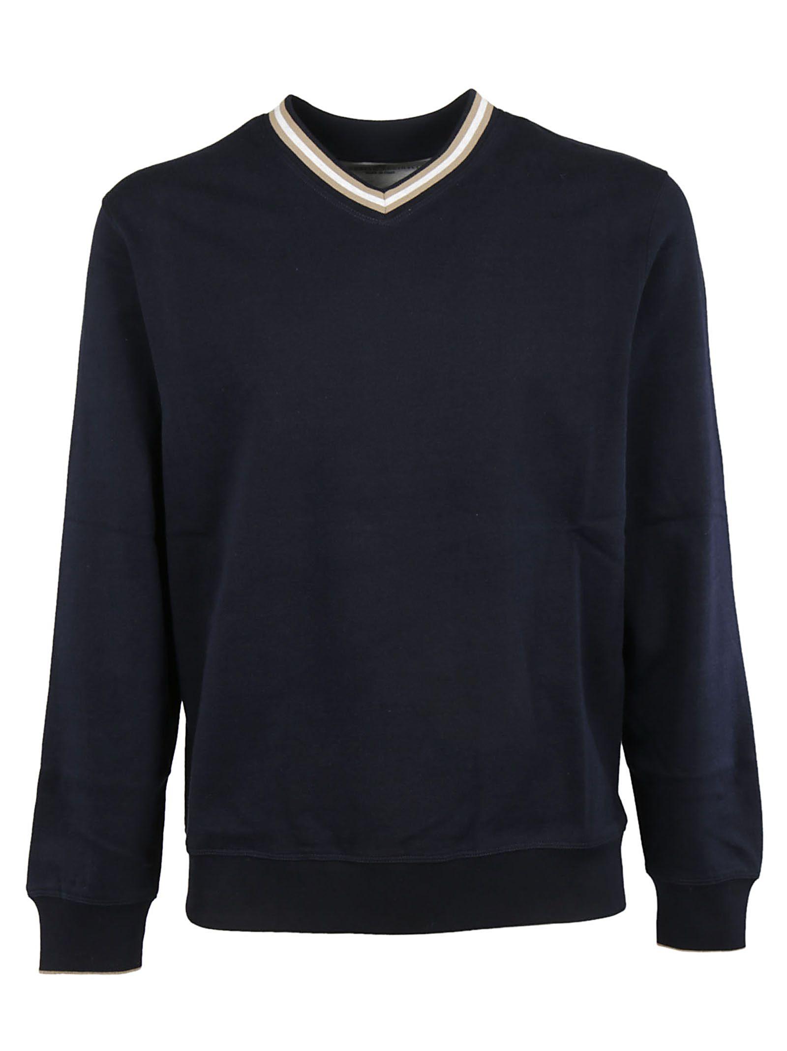 Brunello Cucinelli Striped Trim Sweatshirt