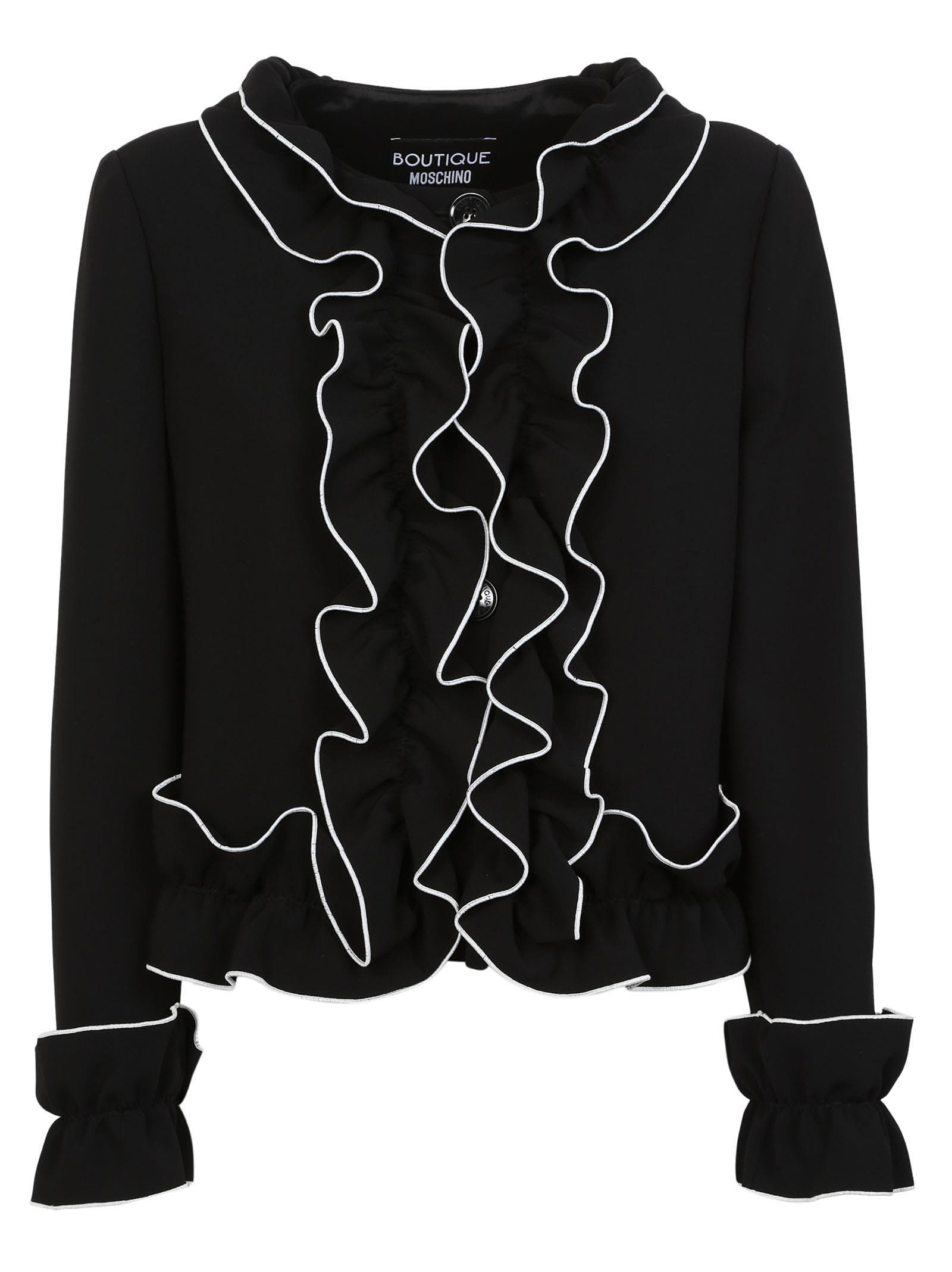 Boutique Moschino Ruffle Trim Jacket