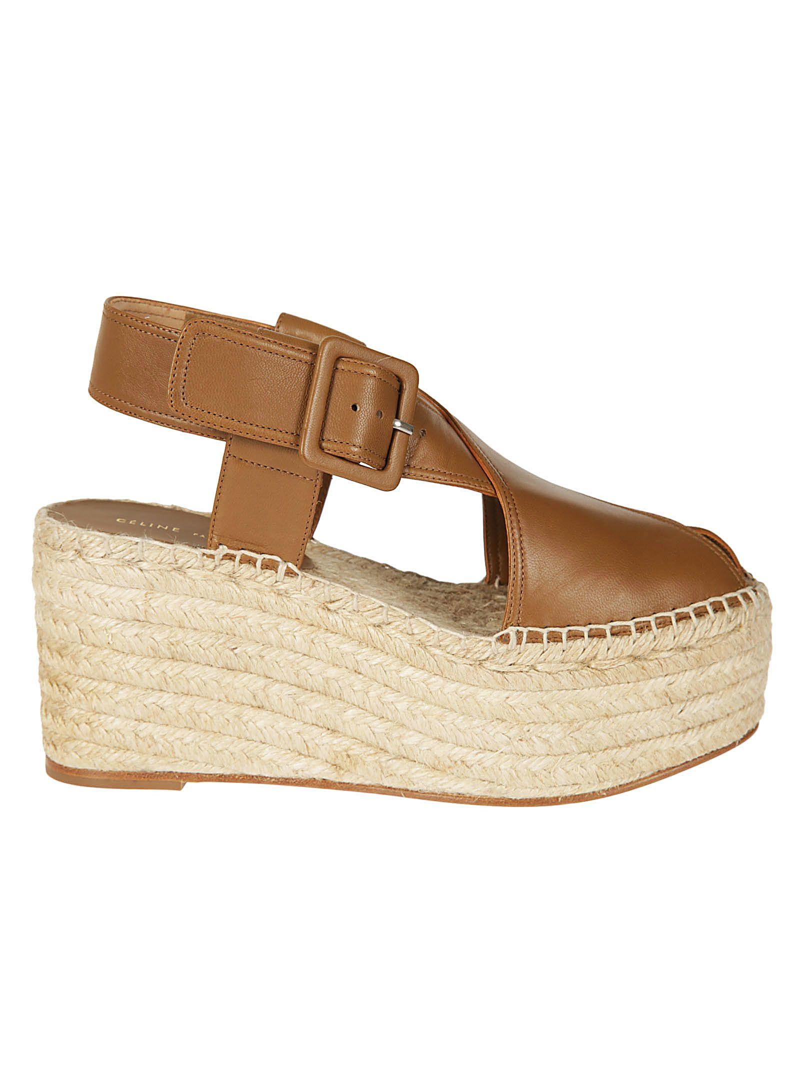 Celine Woven Wedge Sandals