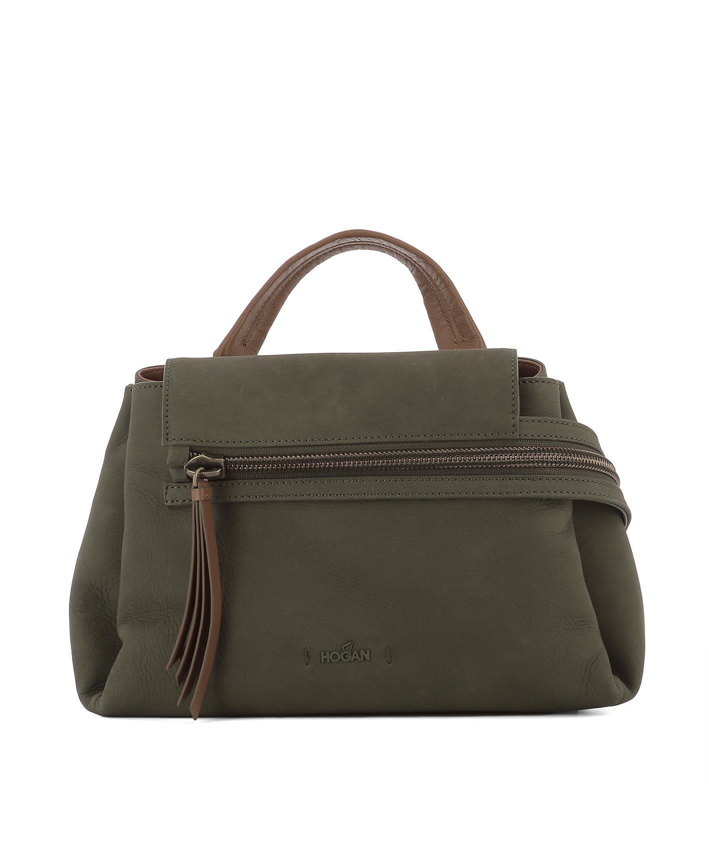 HOGAN GREEN LEATHER HANDLE BAG