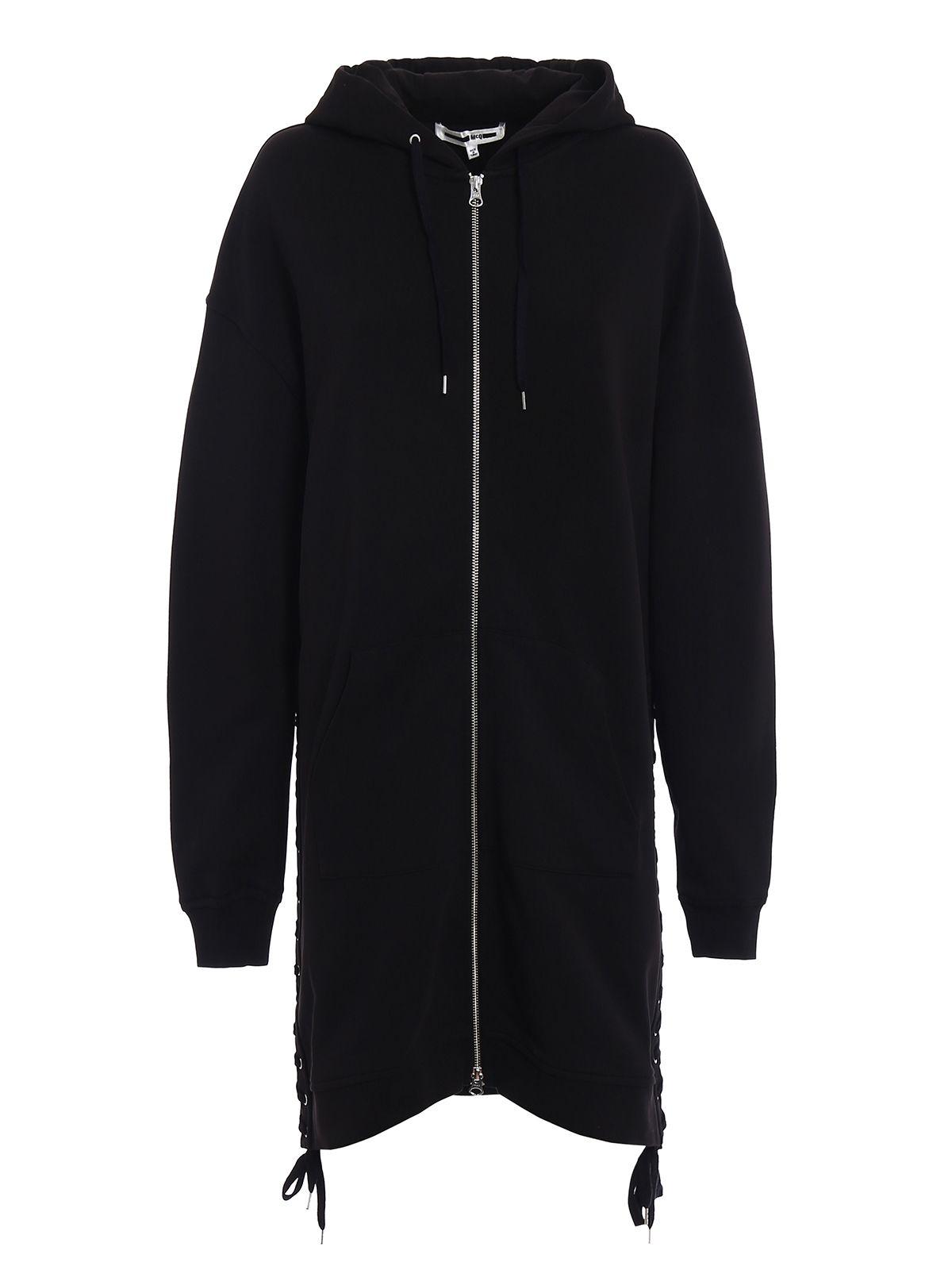 mcq by alexander mcqueen mcq alexander mcqueen long length hoodie in black modesens. Black Bedroom Furniture Sets. Home Design Ideas