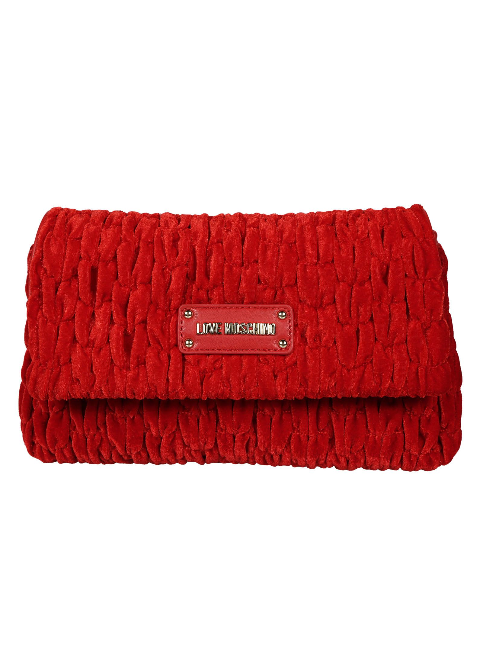 Love Moschino Textured Shoulder Bag